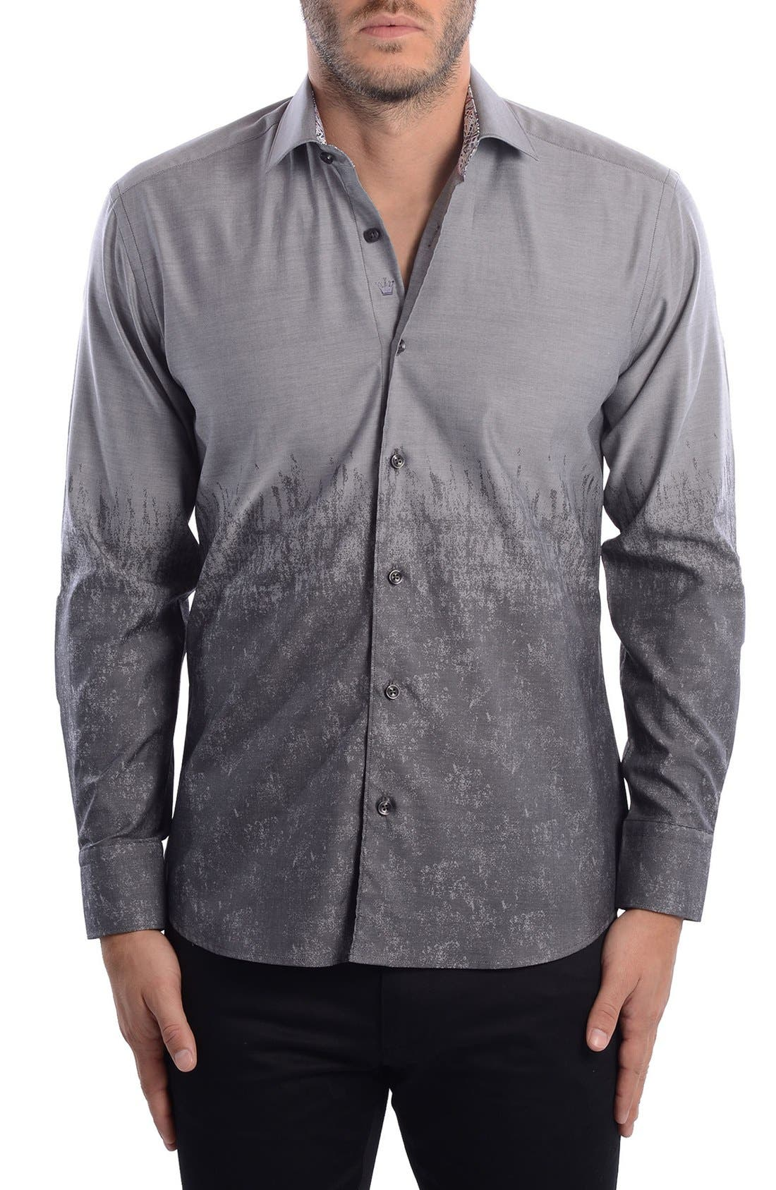 Abstract Modern Fit Sport Shirt,                             Alternate thumbnail 3, color,                             060