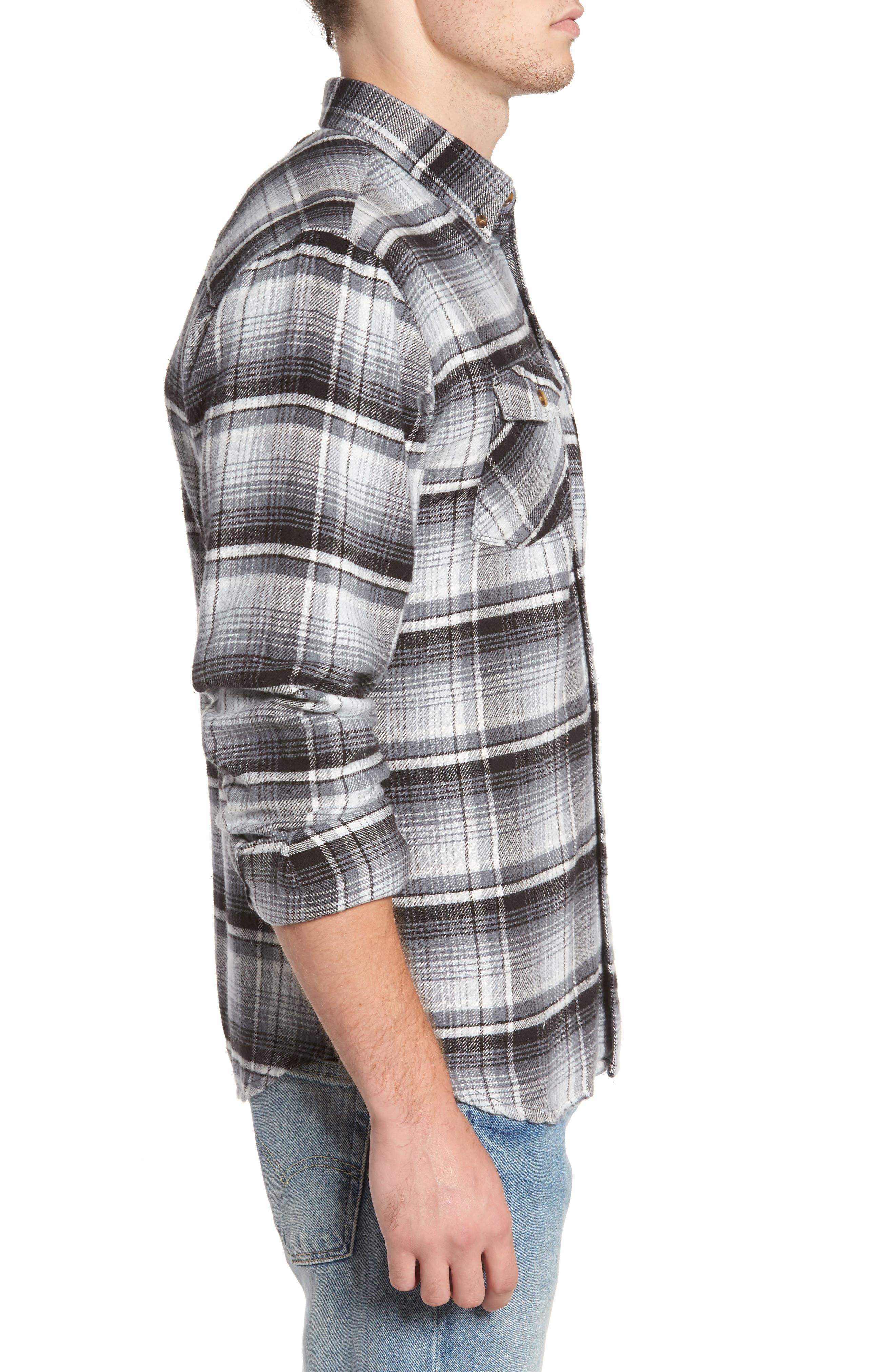 Butler Plaid Flannel Sport Shirt,                             Alternate thumbnail 7, color,