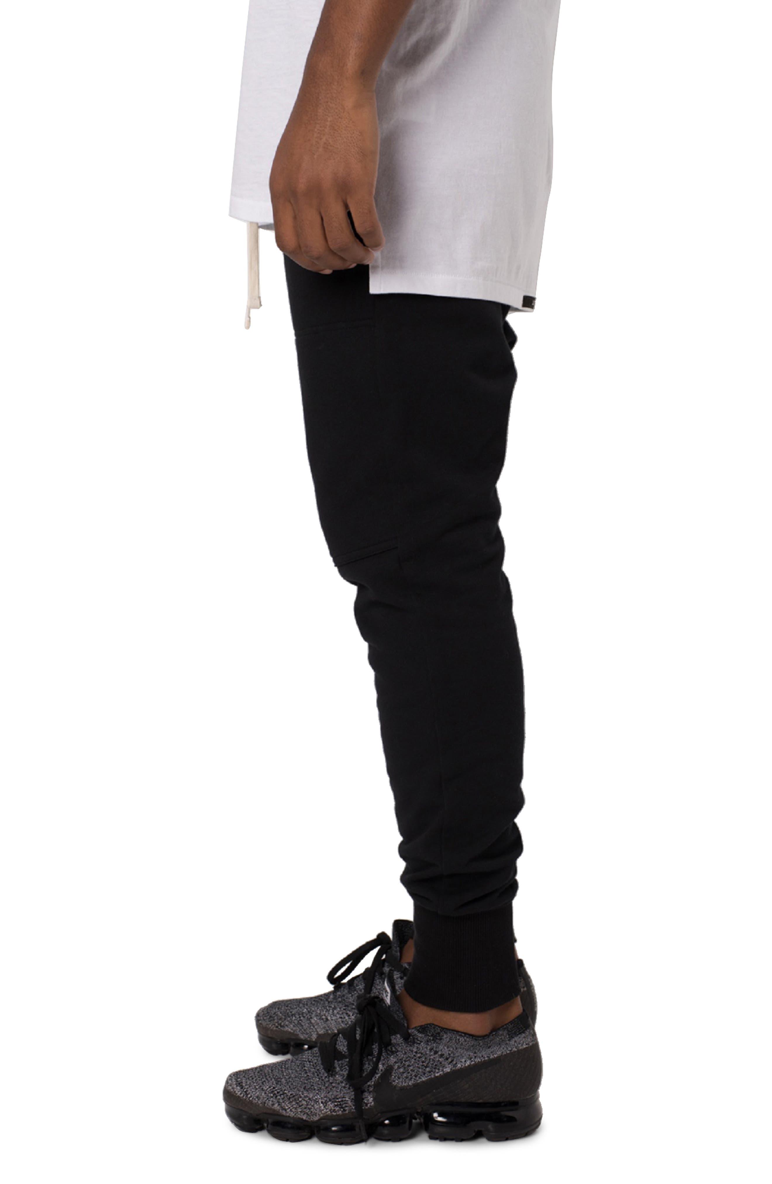 Blockshot Fleece Jogger Pants,                             Alternate thumbnail 3, color,                             BLACK