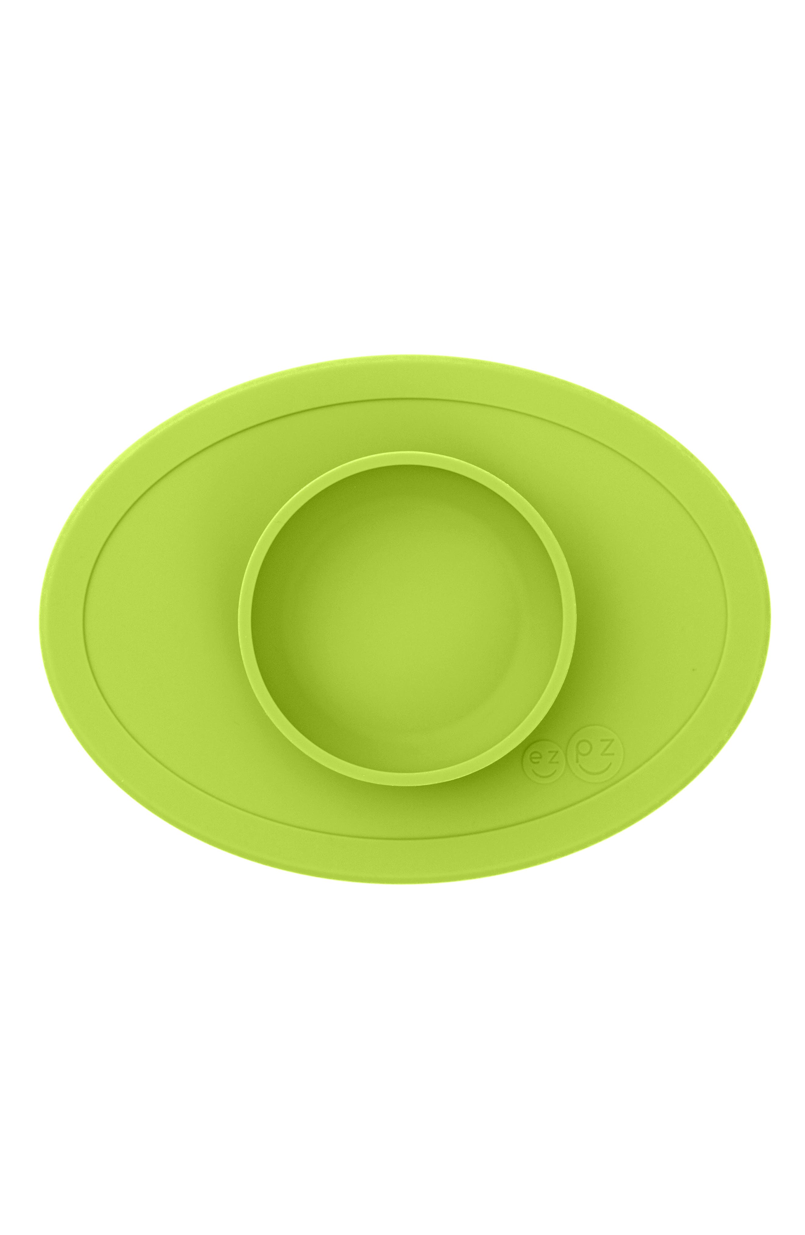 Tiny Bowl Silicone Feeding Mat, Main, color, LIME