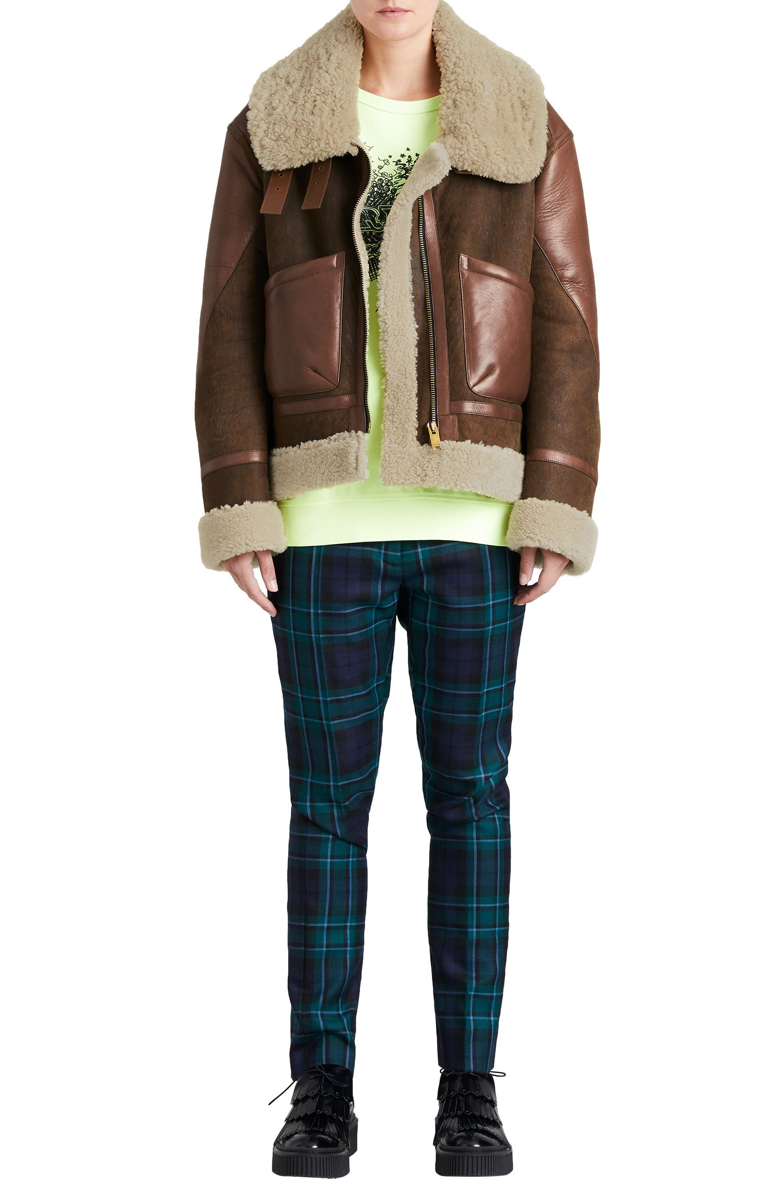 Blexley Genuine Shearling Coat,                             Alternate thumbnail 5, color,