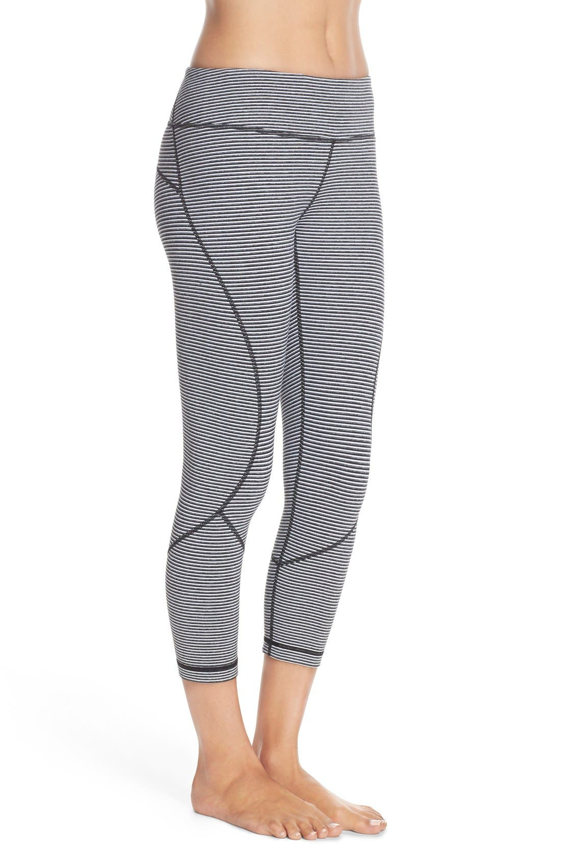 'Live In' Crop Leggings,                             Alternate thumbnail 3, color,                             001