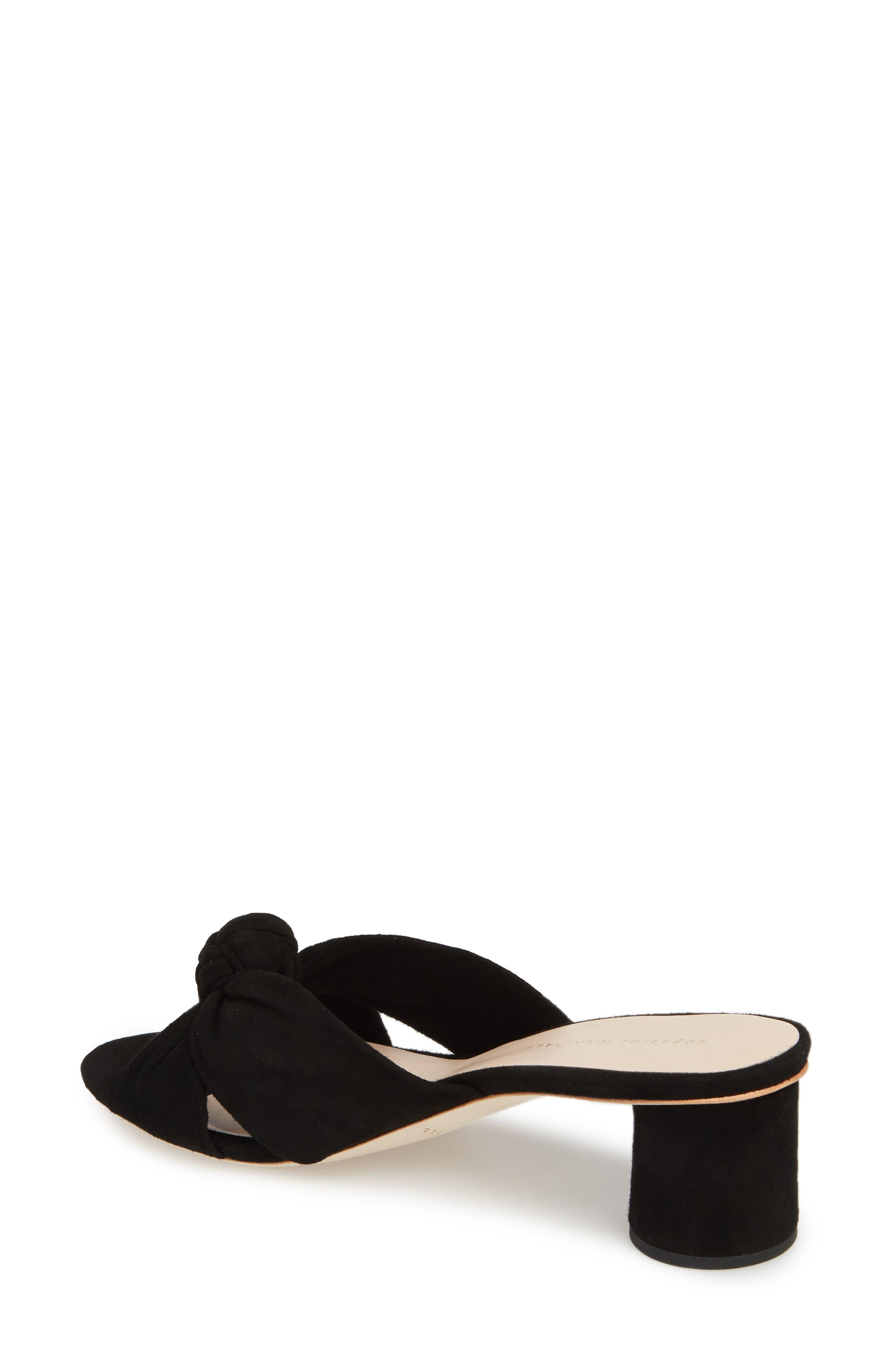 Loeffler Randal Celeste Knotted Slide Sandal,                             Alternate thumbnail 2, color,                             BLACK