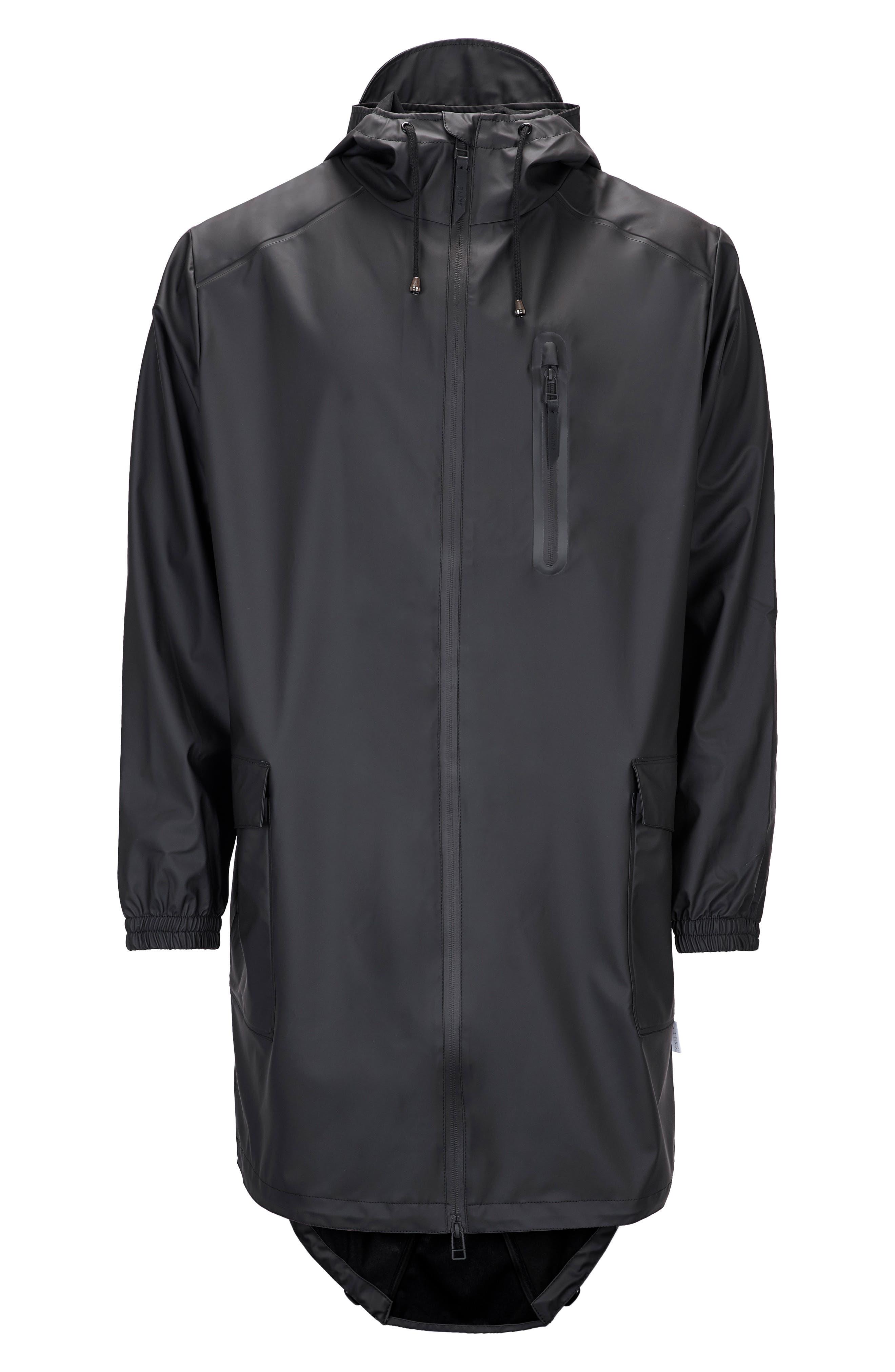 Waterproof Parka Coat,                             Alternate thumbnail 3, color,                             BLACK