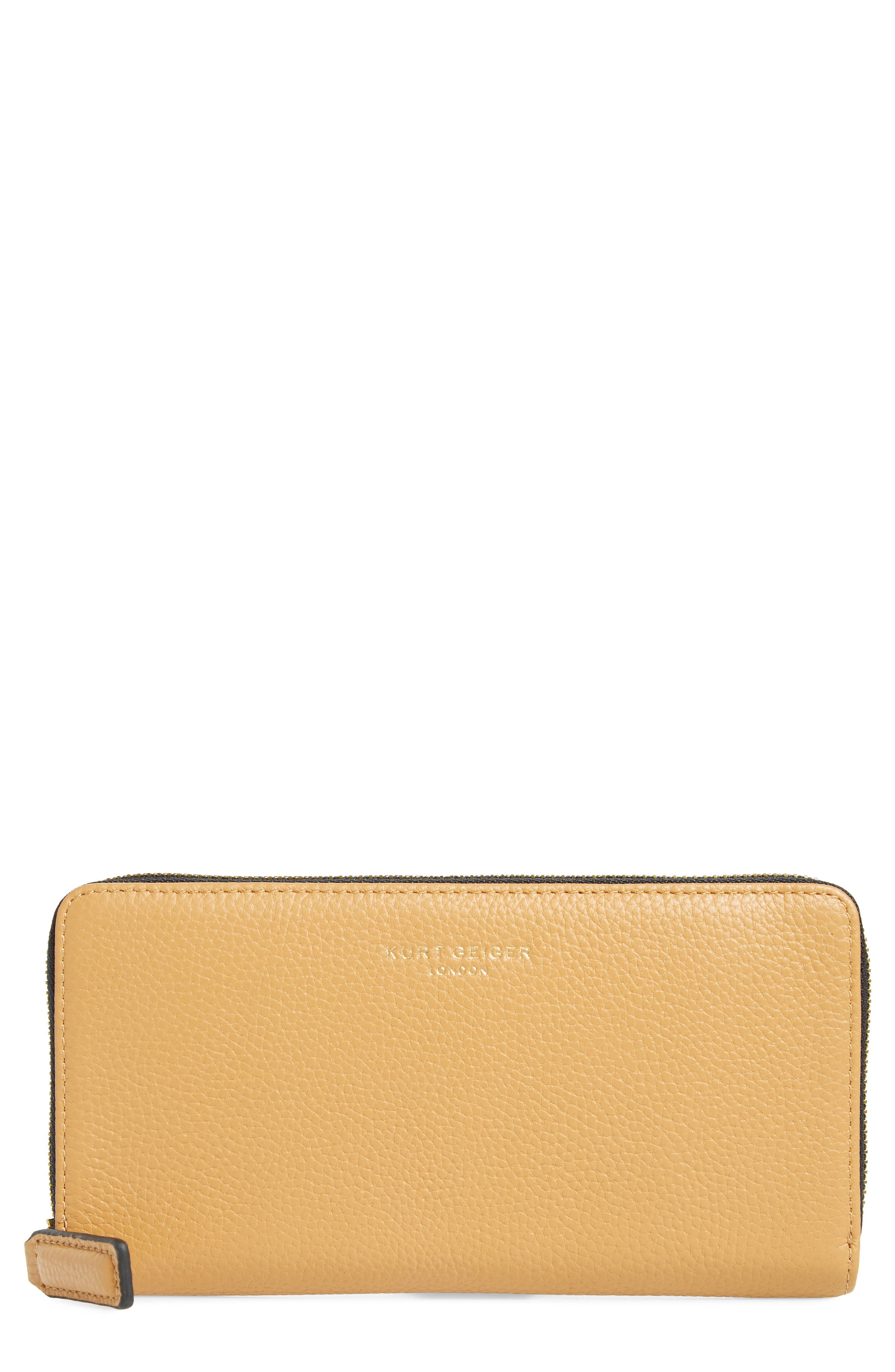 Zip Around Leather Wallet,                             Main thumbnail 3, color,