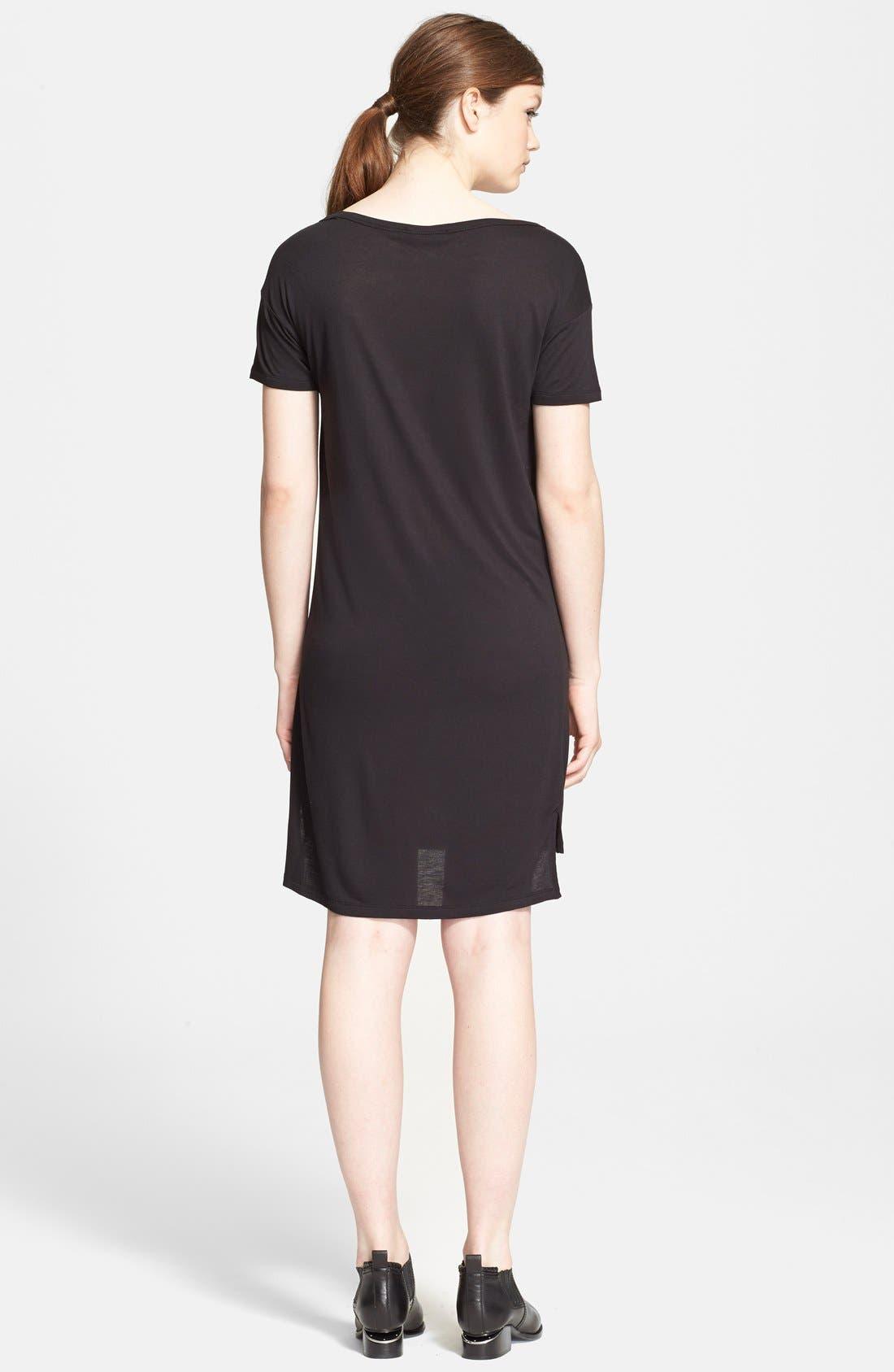 T by Alexander Wang Jersey Dress,                             Alternate thumbnail 2, color,                             001