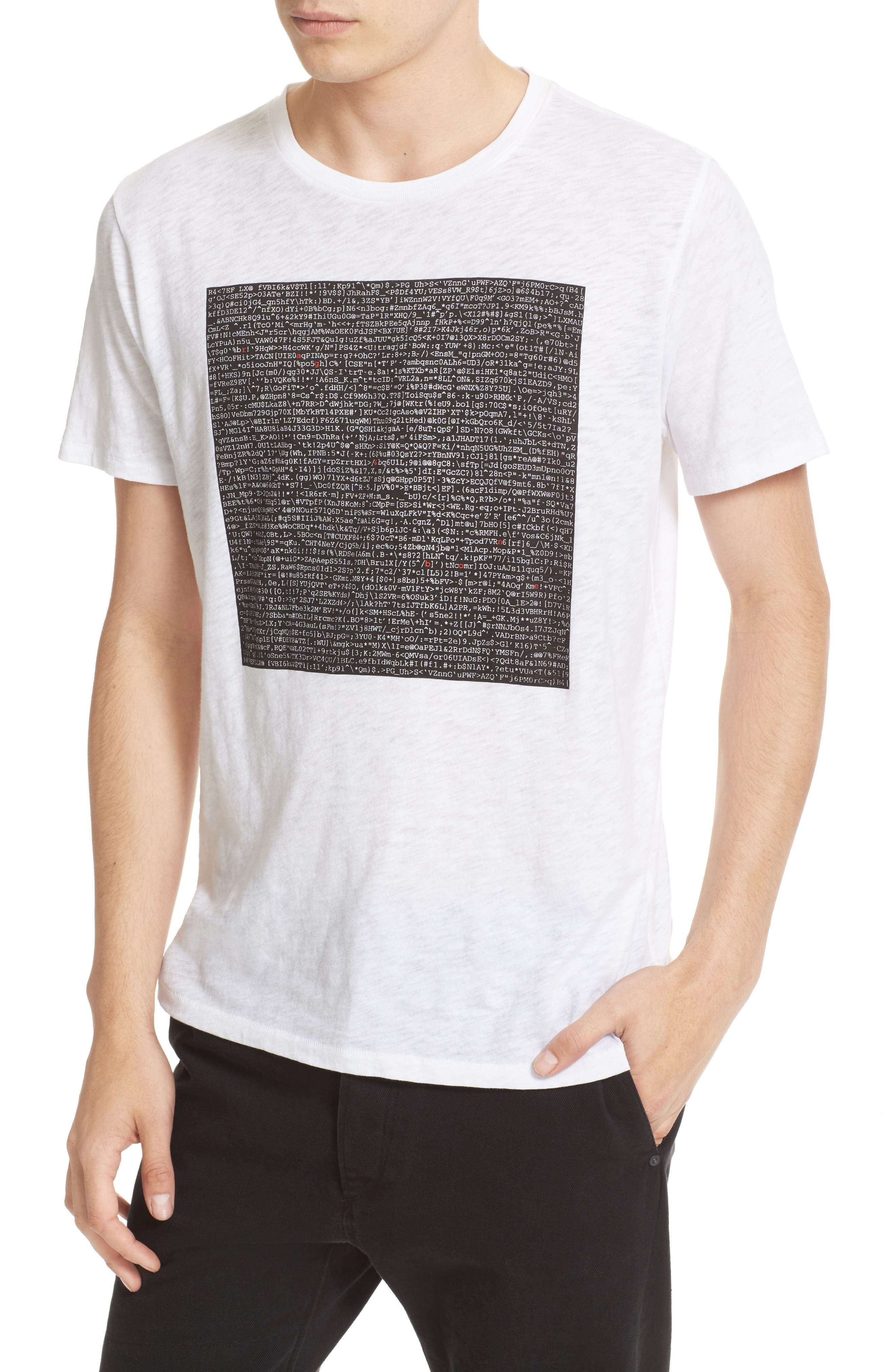 Graphic Code T-Shirt,                             Alternate thumbnail 4, color,                             100