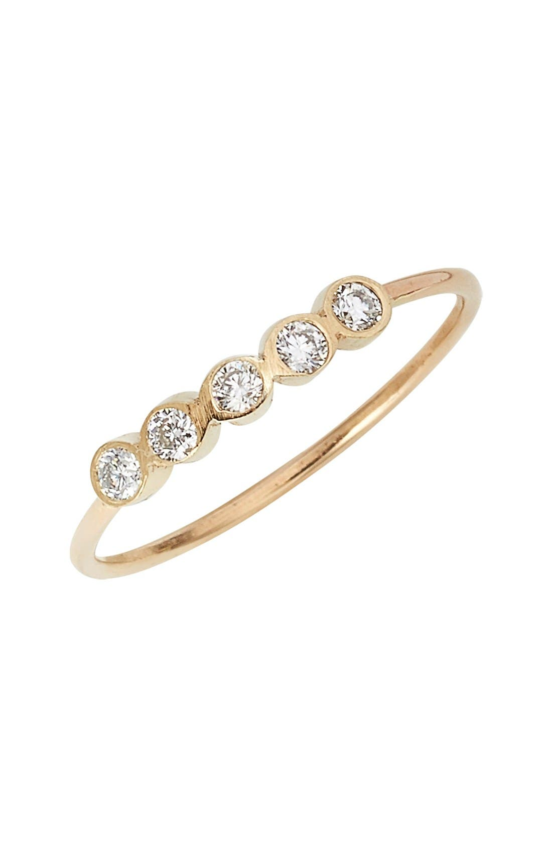ZOË CHICCO,                             Diamond Bezel Ring,                             Main thumbnail 1, color,                             710