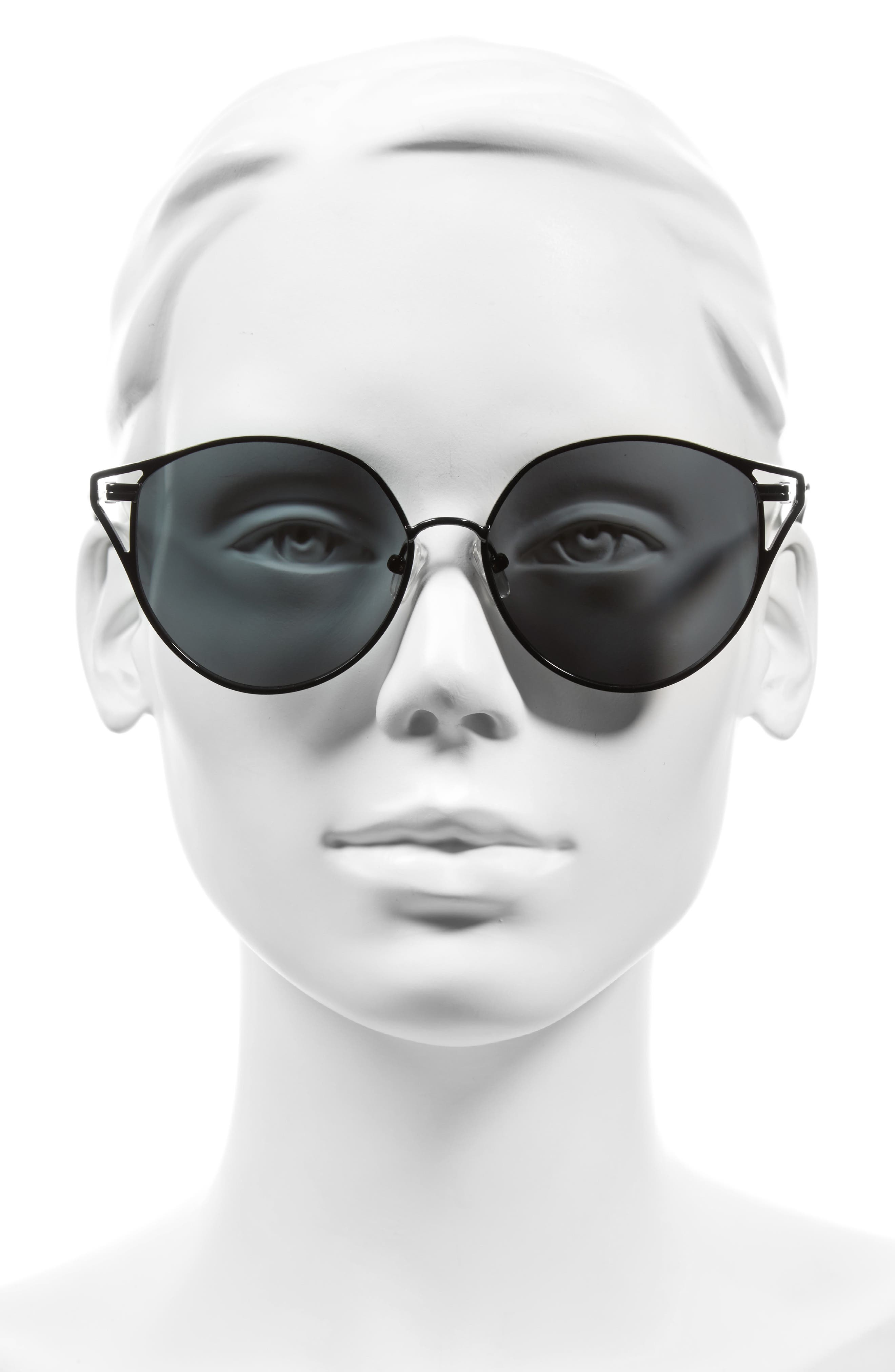 Ibiza 55mm Cat Eye Sunglasses,                             Alternate thumbnail 4, color,