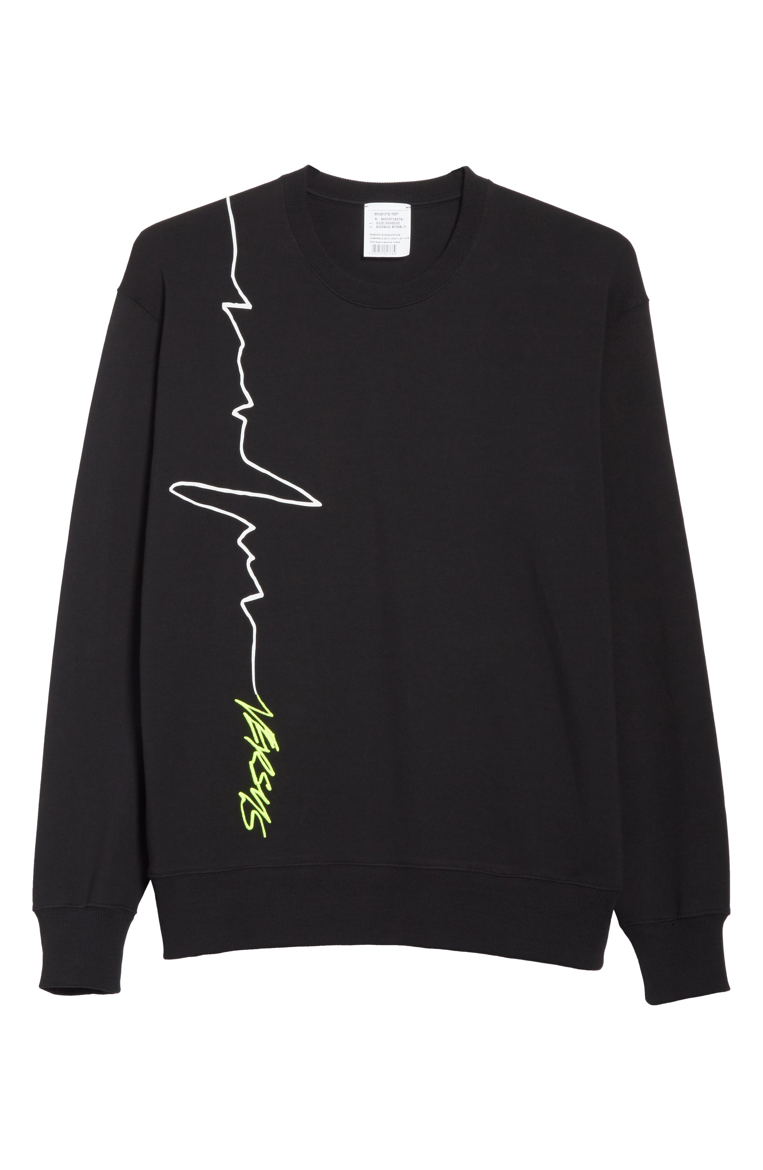 VERSUS by Versace Heartbeat Graphic Sweatshirt,                             Alternate thumbnail 6, color,