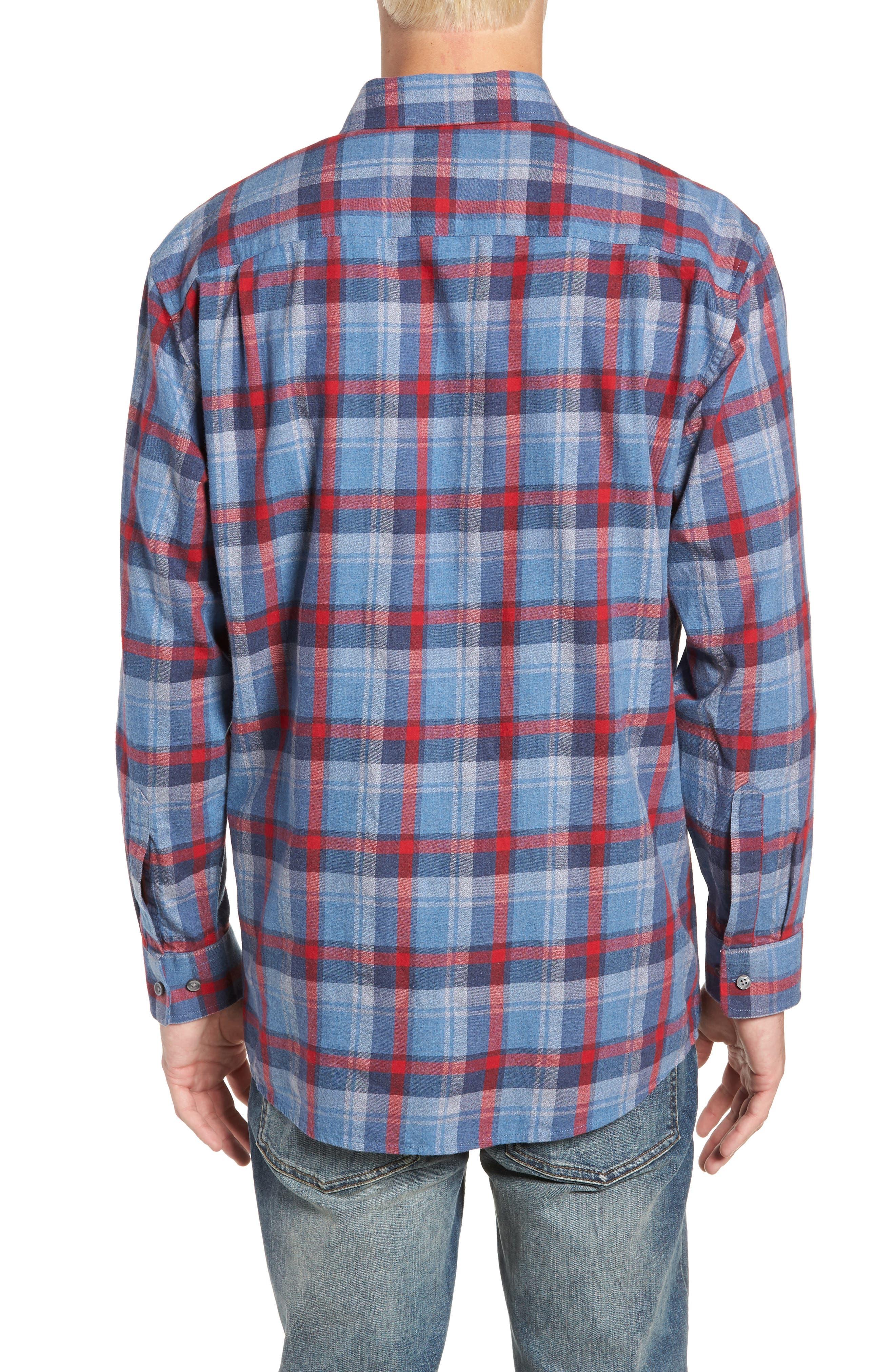 Jasper Plaid Flannel Shirt,                             Alternate thumbnail 3, color,                             410