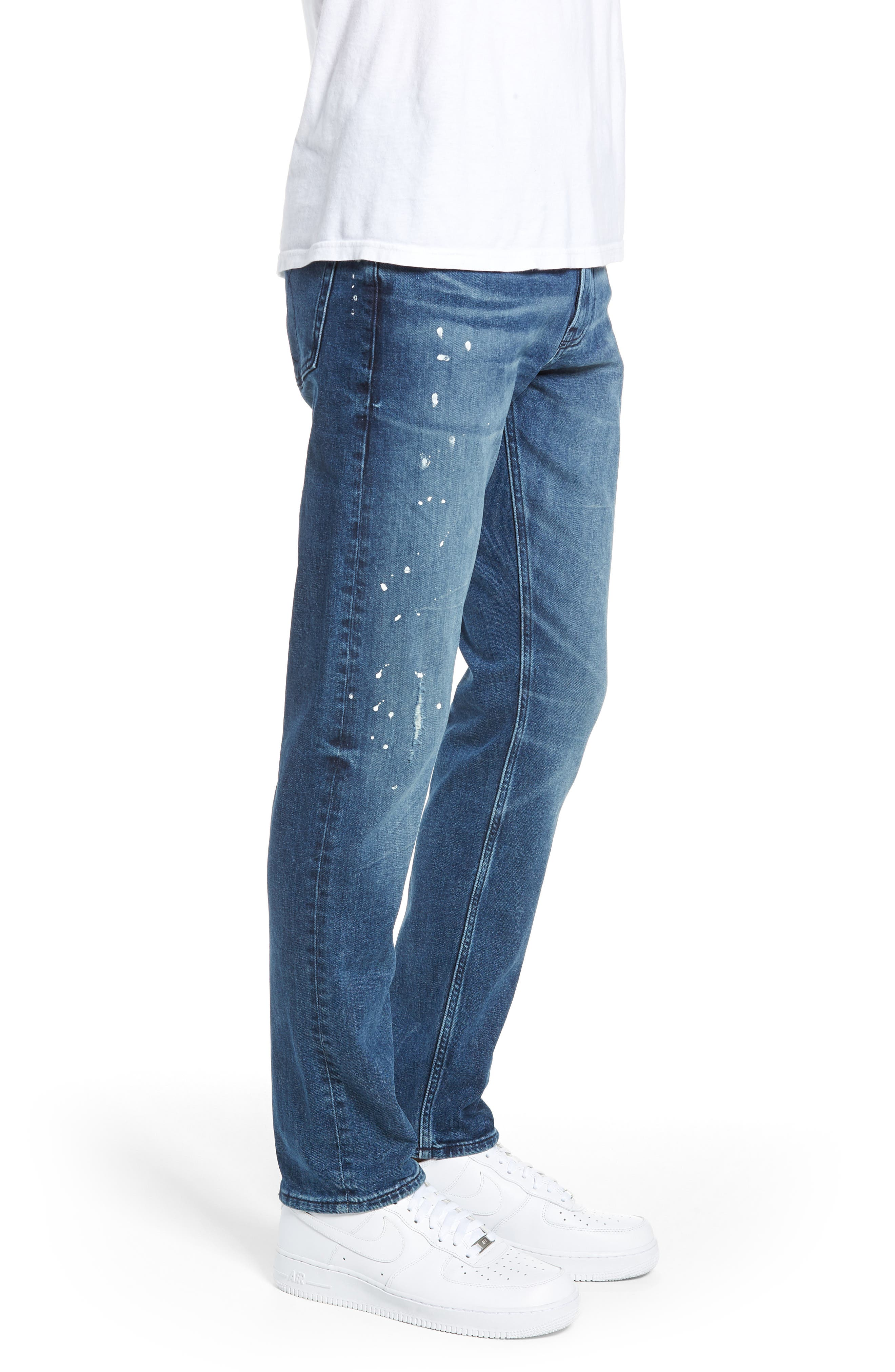 Calvin Klein Slim Fit Jeans,                             Alternate thumbnail 3, color,                             KINGPIN BLUE