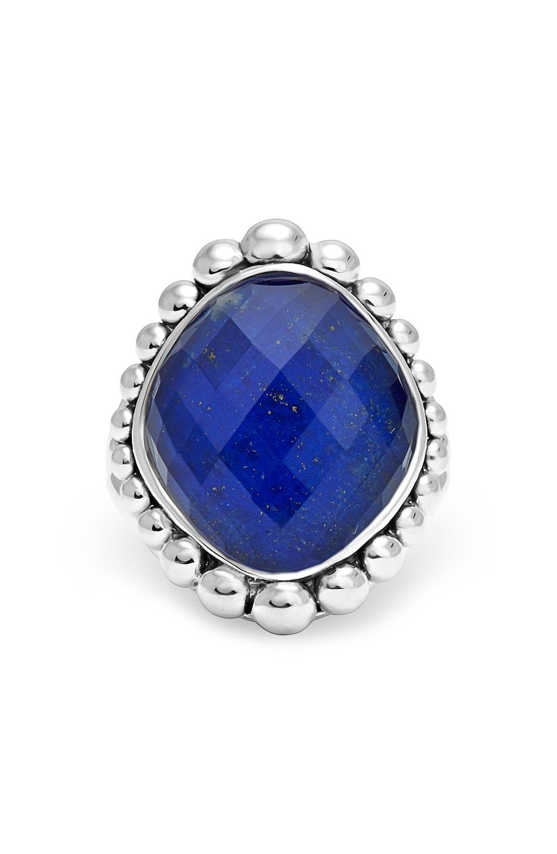 Maya Stone Ring,                             Alternate thumbnail 6, color,                             LAPIS