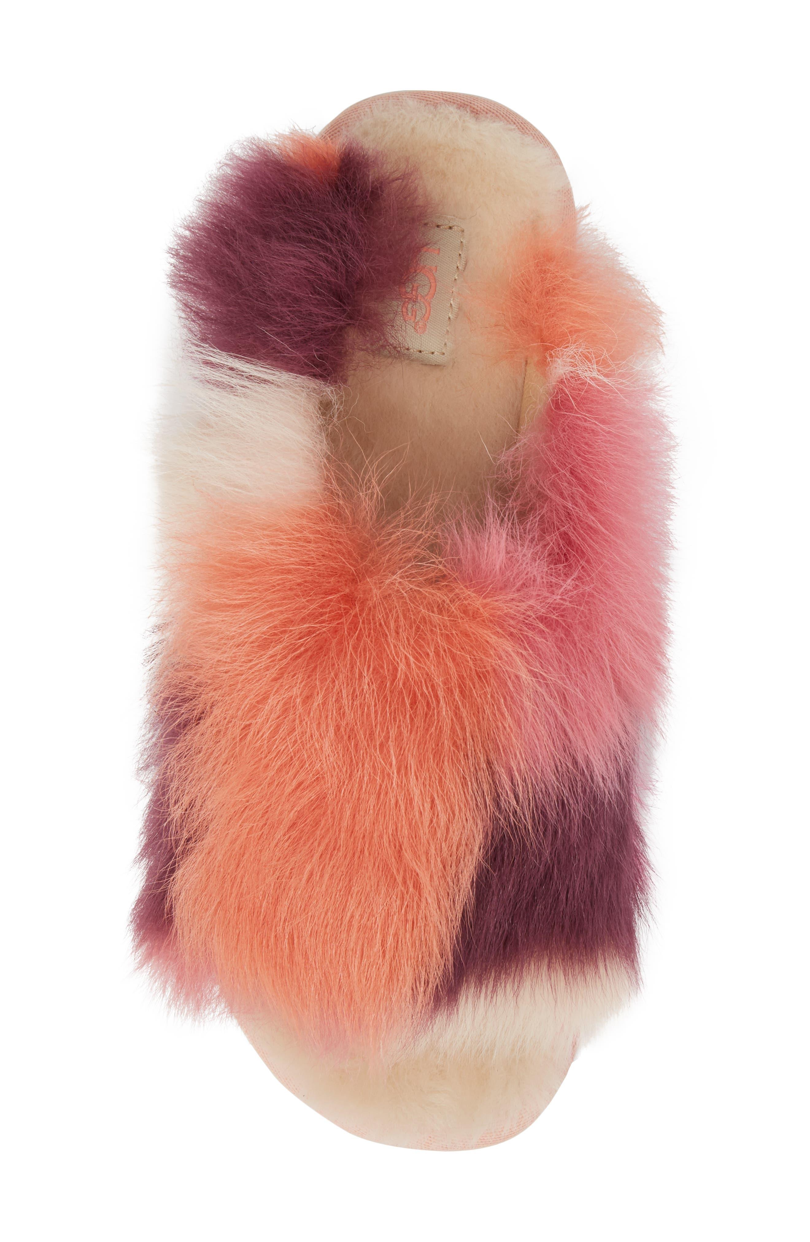 Shag It Crazy Genuine Toscana Shearling Slide Sandal,                             Alternate thumbnail 10, color,
