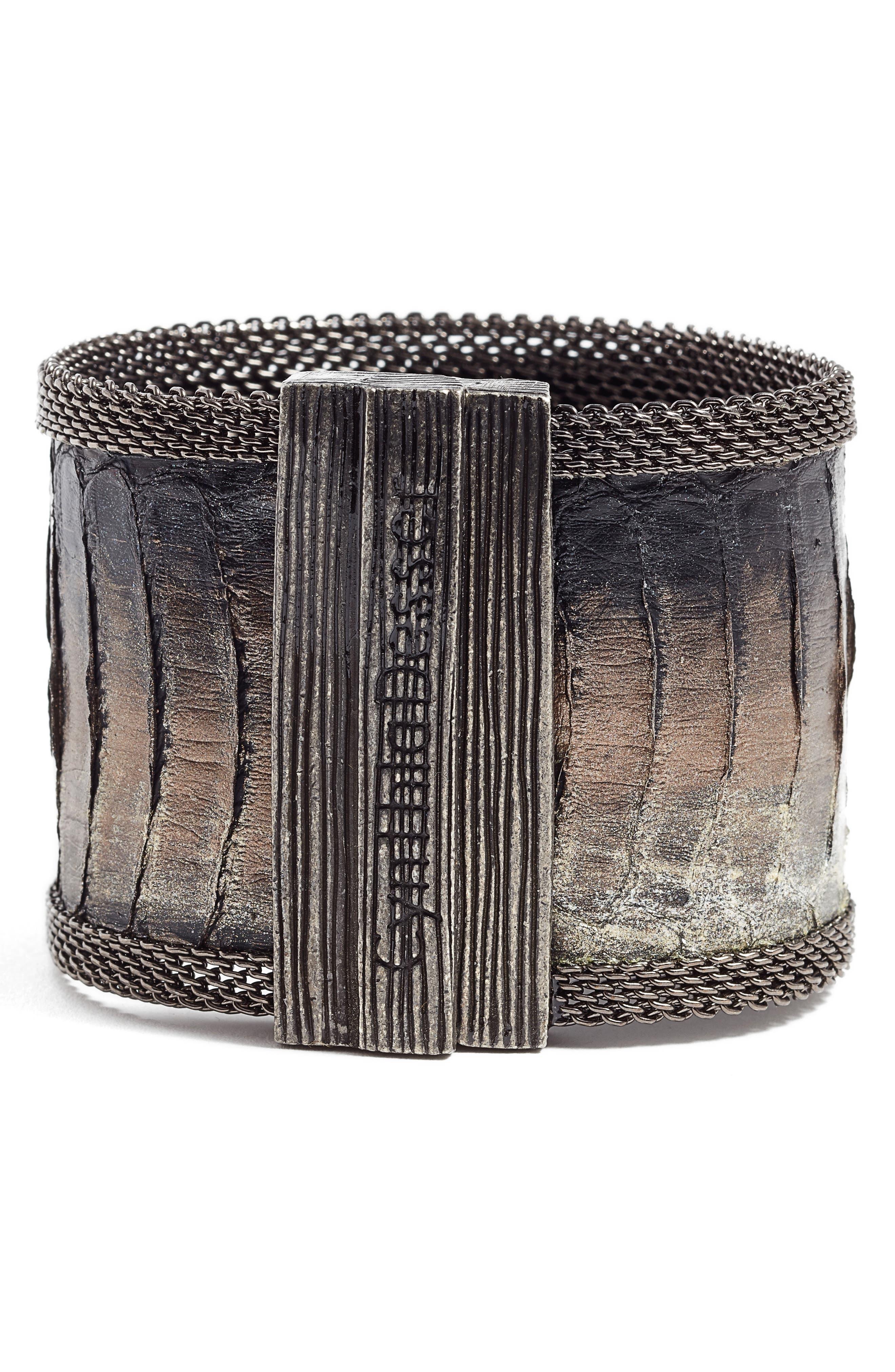 Snakeskin Bracelet,                             Alternate thumbnail 2, color,                             001