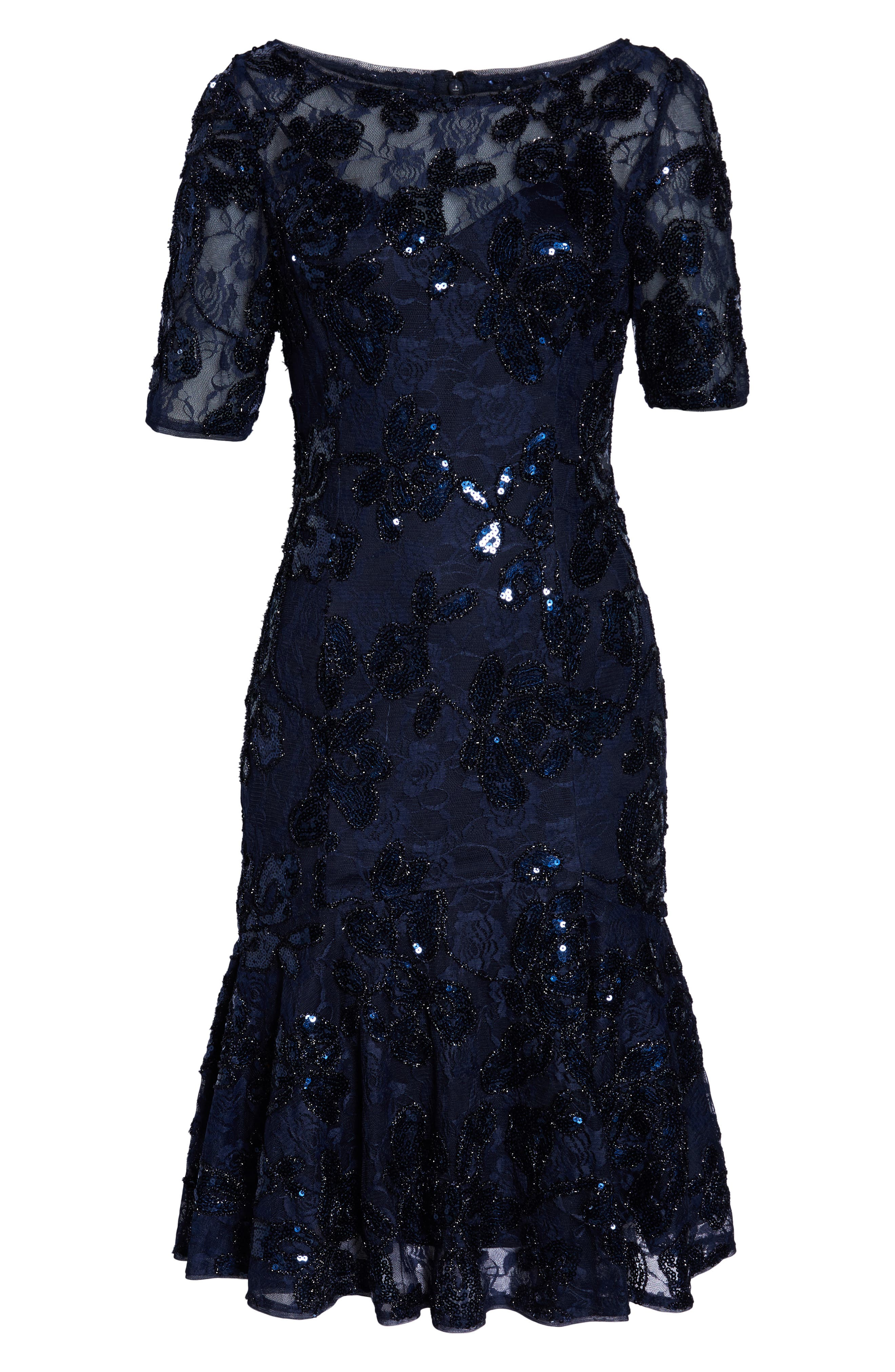 ADRIANNA PAPELL,                             Sequin Embellished Dress,                             Alternate thumbnail 6, color,                             410