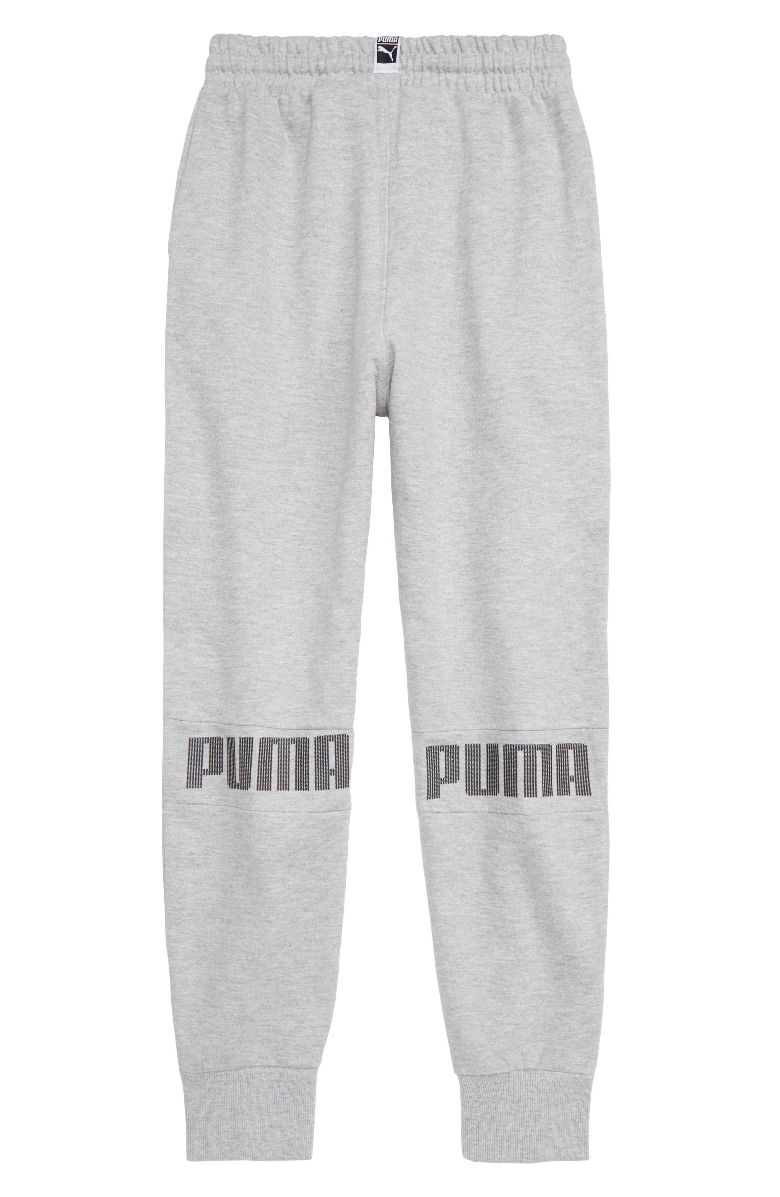 PUMA,                             Fleece Jogger Pants,                             Alternate thumbnail 2, color,                             HEATHER GREY