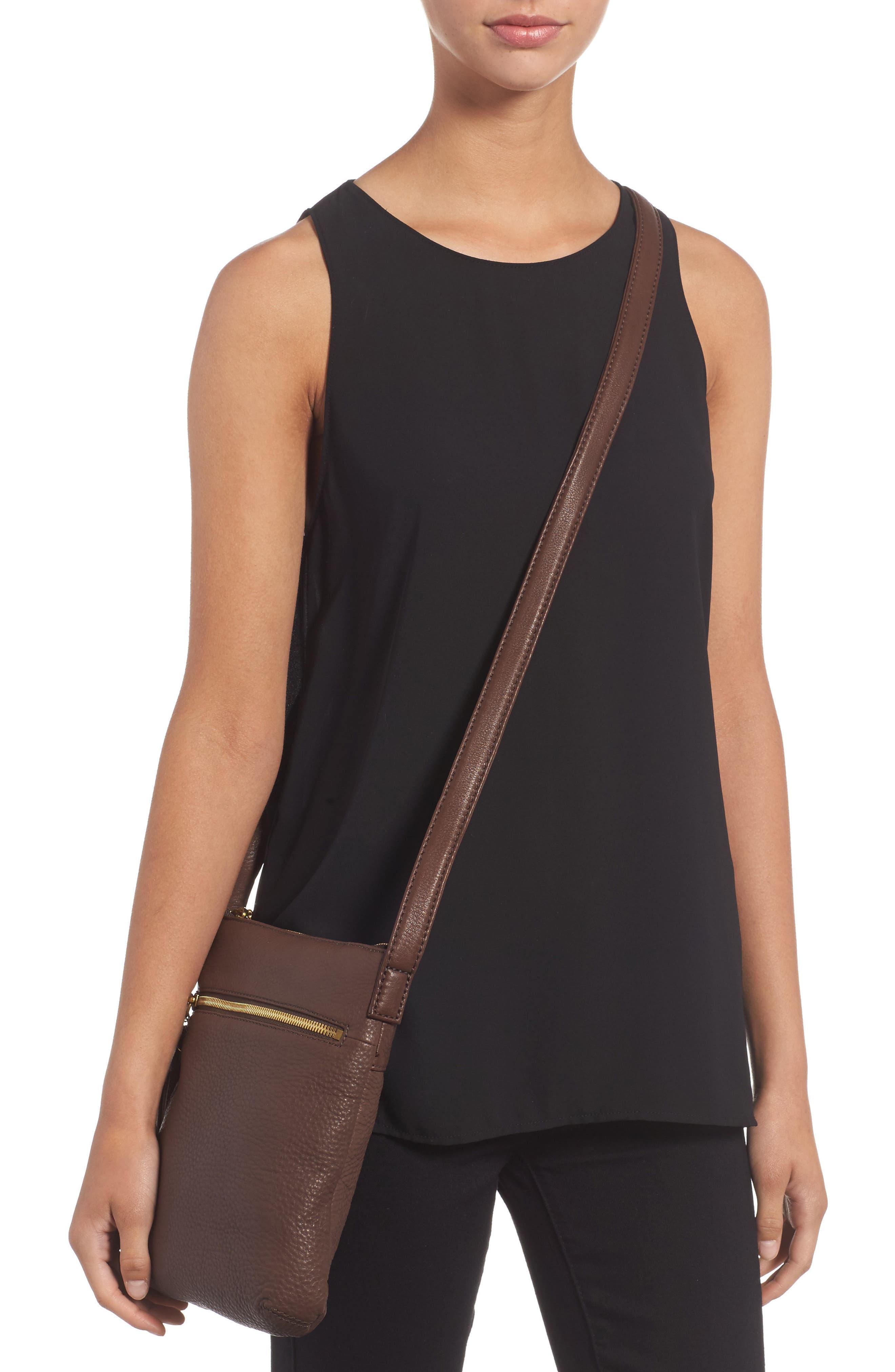 'Sarah' Leather Crossbody Bag,                             Alternate thumbnail 9, color,