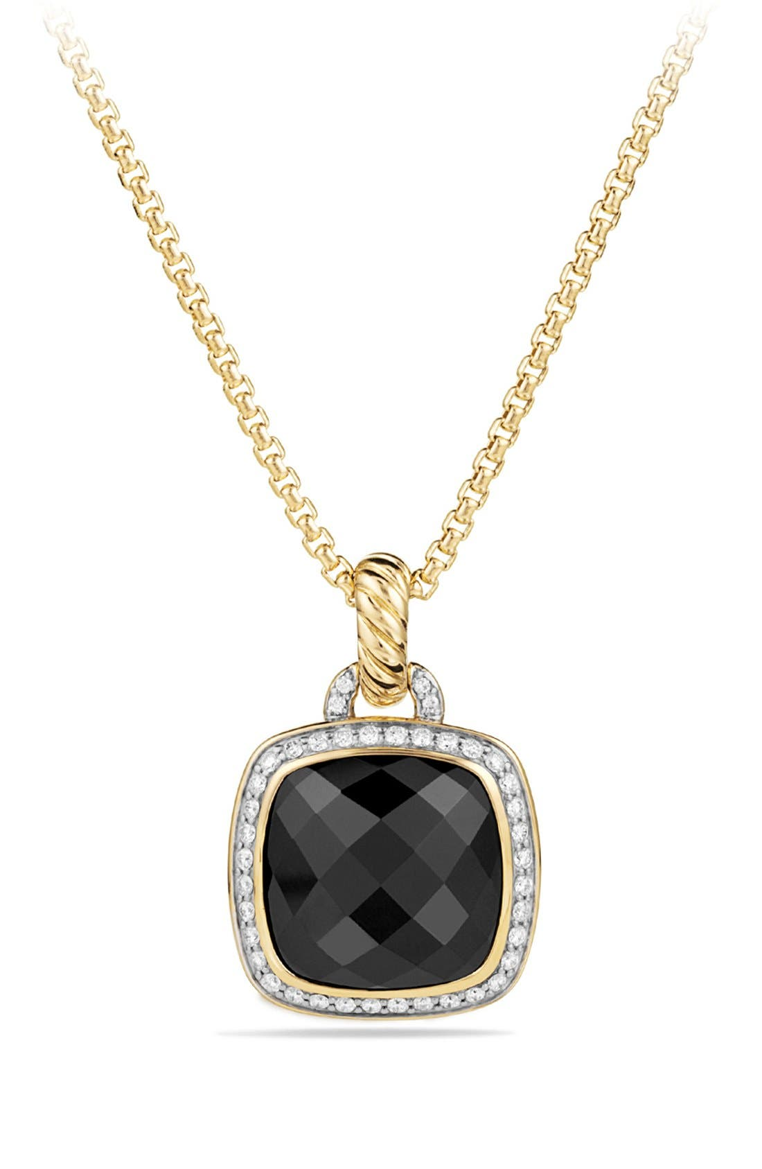 'Albion' Pendant with Lemon Citrine and Diamonds in 18k Gold,                         Main,                         color, BLACK ONYX
