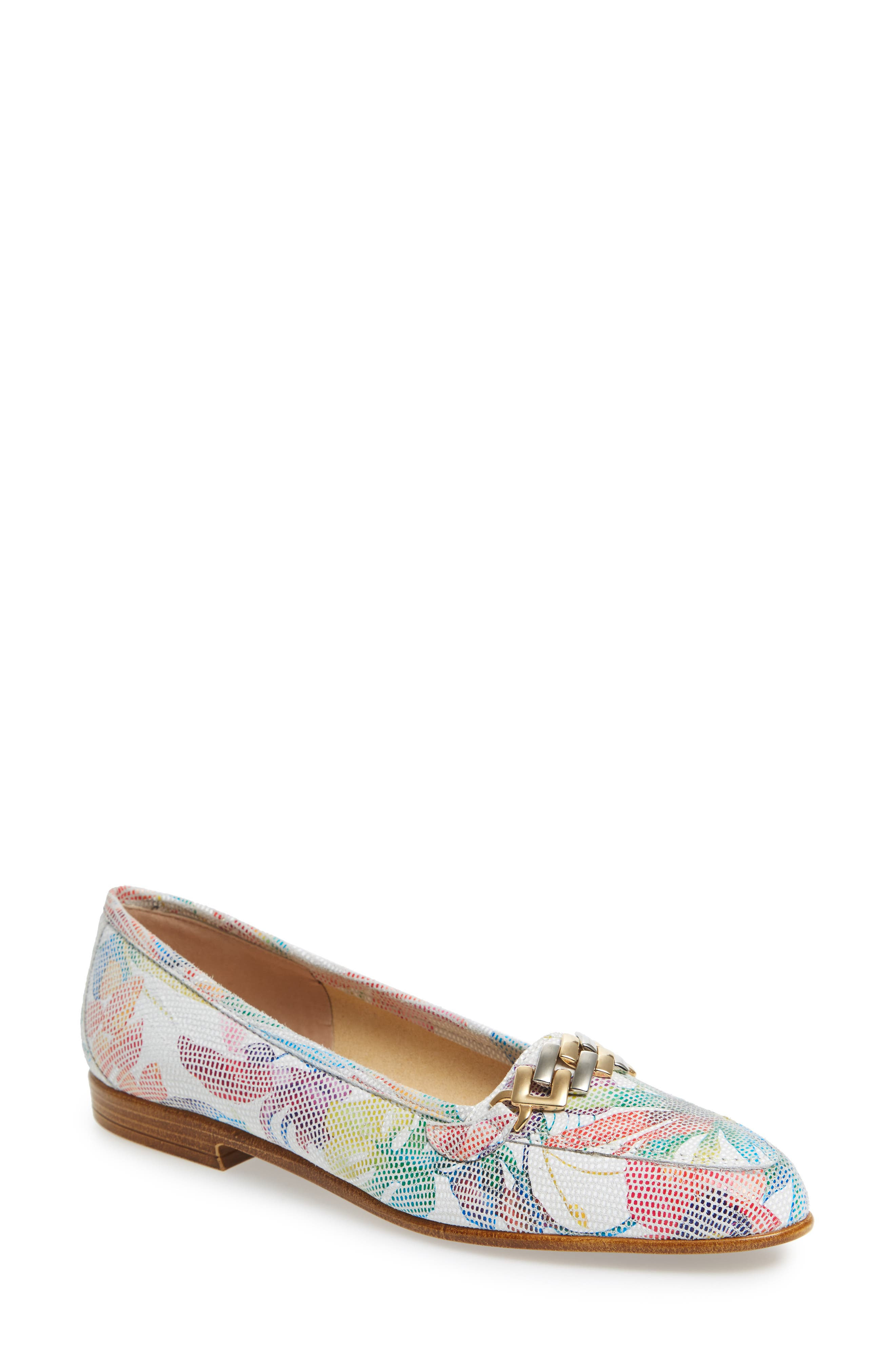 AMALFI BY RANGONI,                             Oste Loafer,                             Main thumbnail 1, color,                             WHITE LEATHER