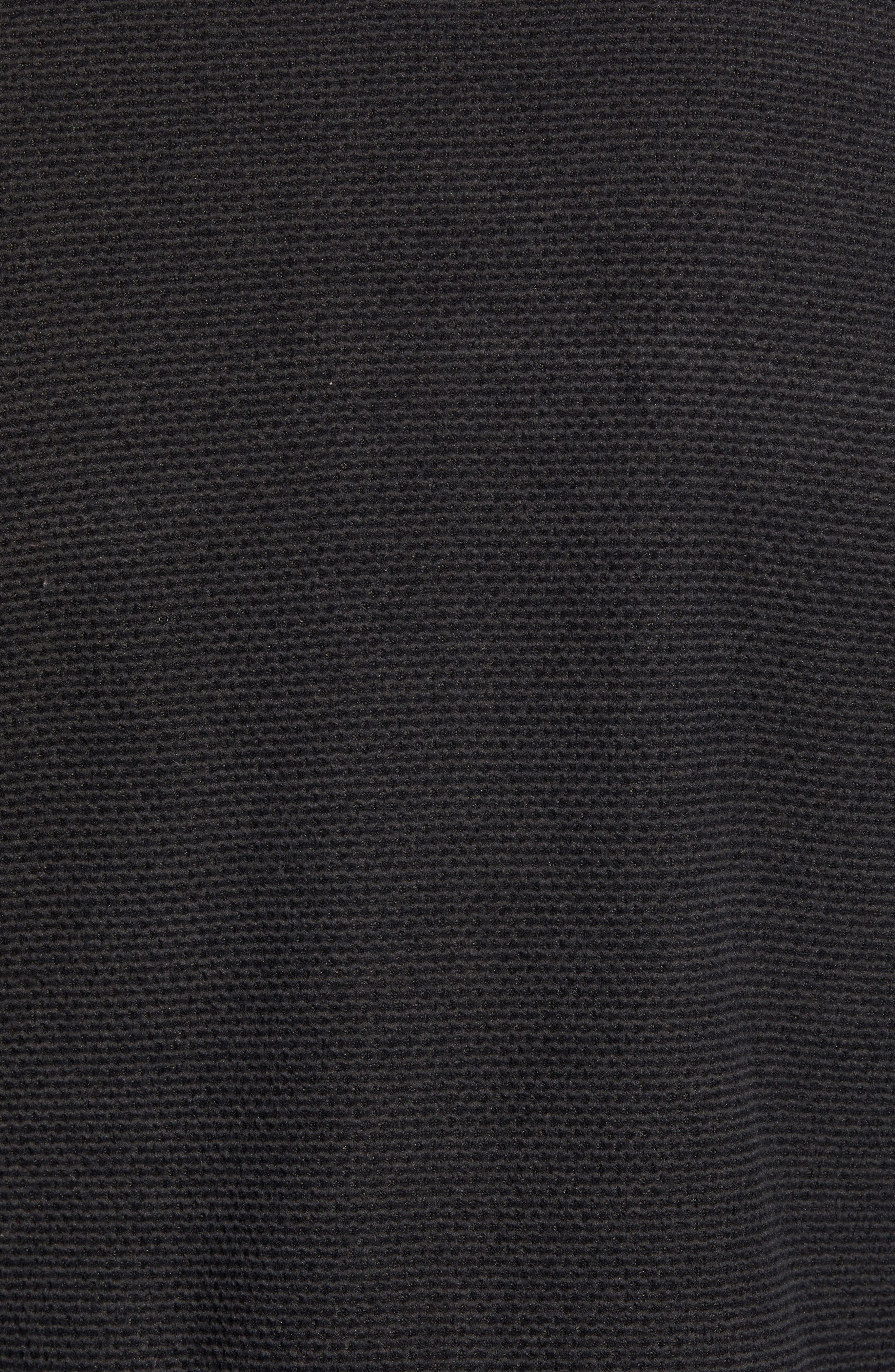 Texture Cap Rock Fleece Jacket,                             Alternate thumbnail 6, color,                             TNF BLACK