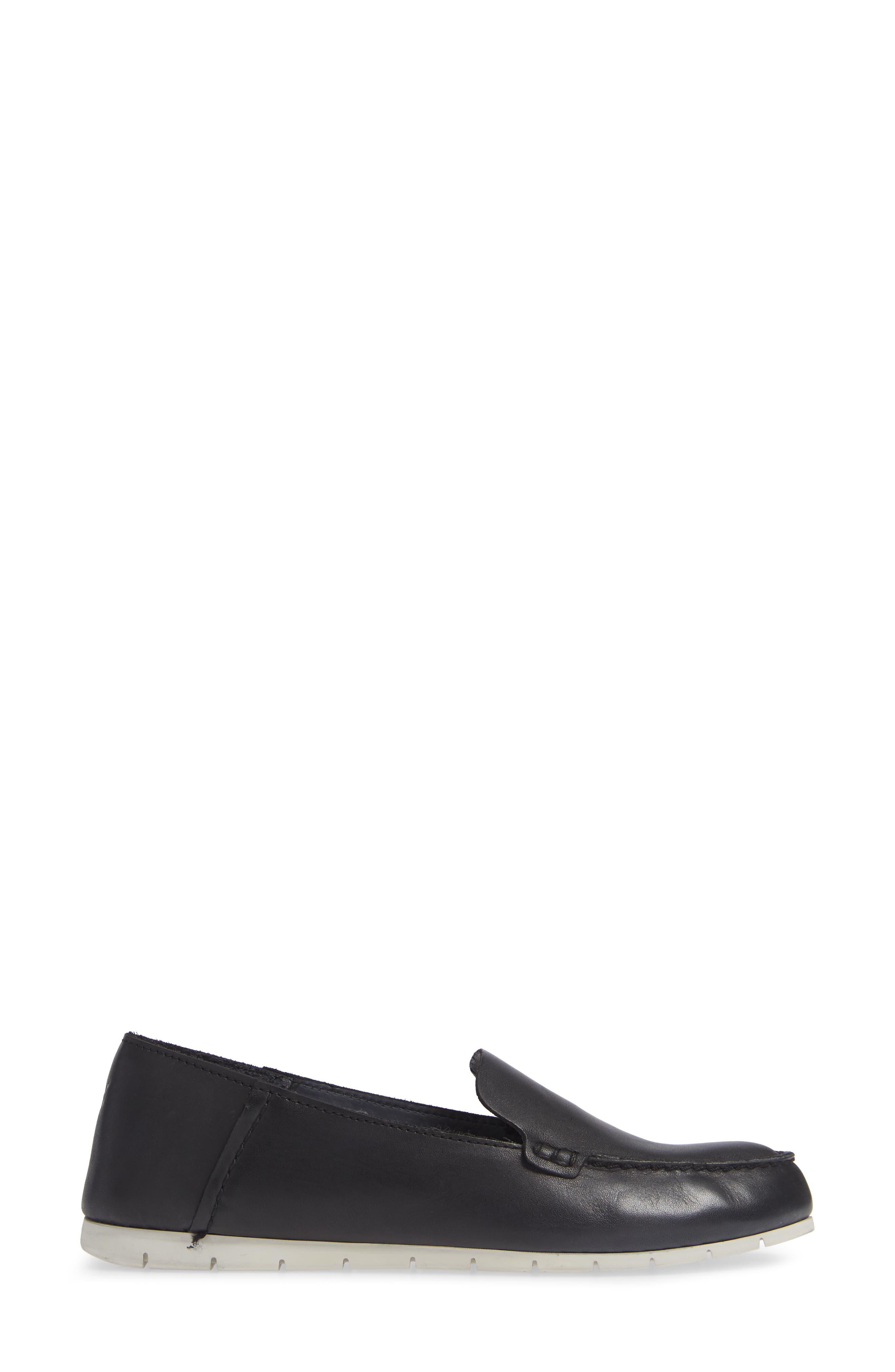 Sedona Venetian Loafer,                             Alternate thumbnail 3, color,                             BLACK LEATHER
