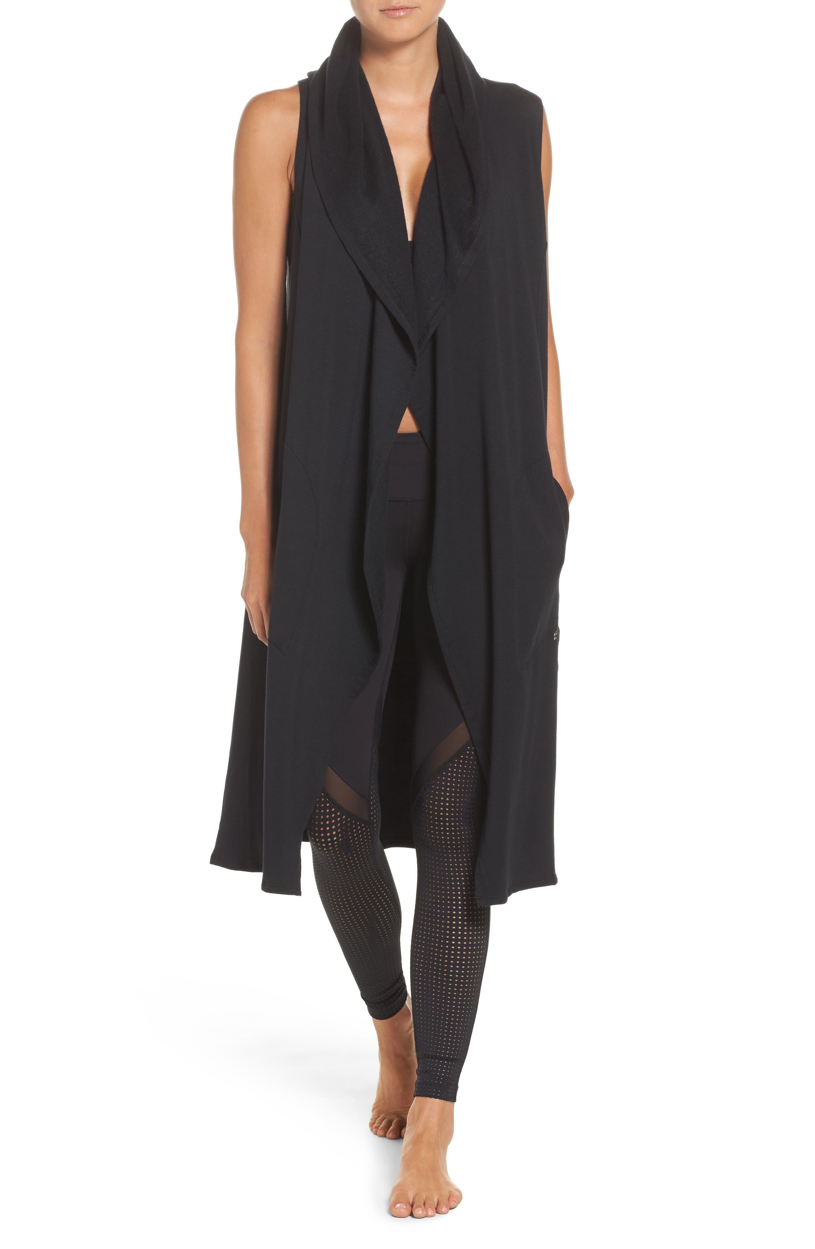 Hooded Full Length Vest,                         Main,                         color,