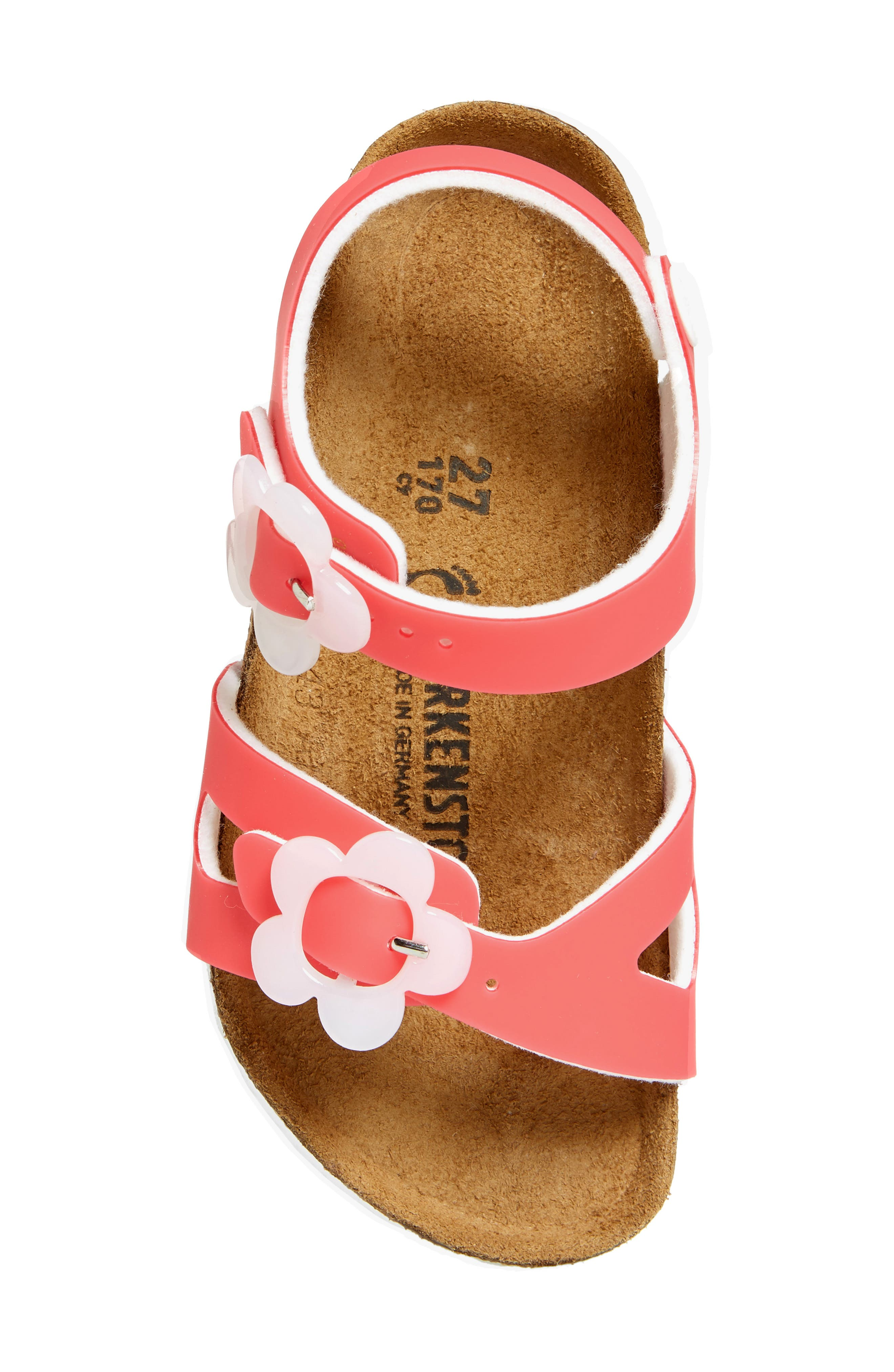 Rio Flowered Sandal,                             Alternate thumbnail 5, color,                             CANDY PINK