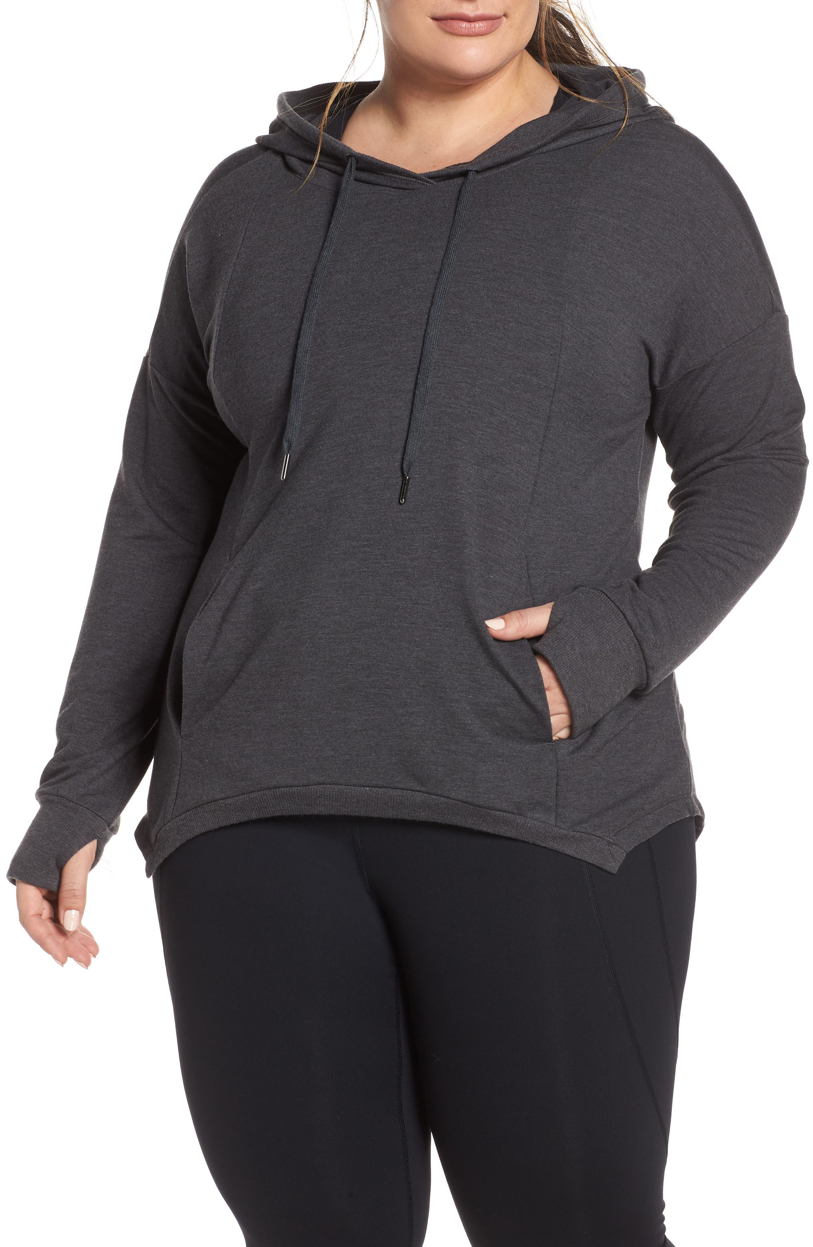 Plus Size Shape Activewear Getaway Cropped Hoodie