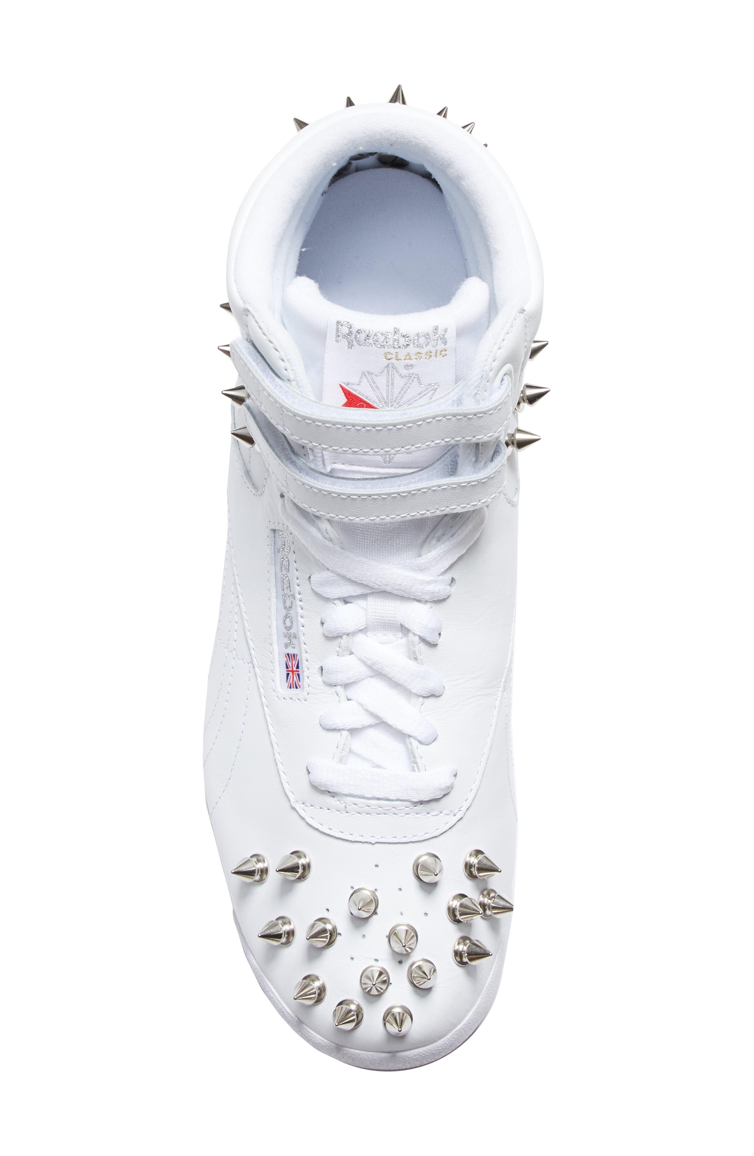 x Reebok Studded Sneaker,                             Alternate thumbnail 5, color,                             WHITE