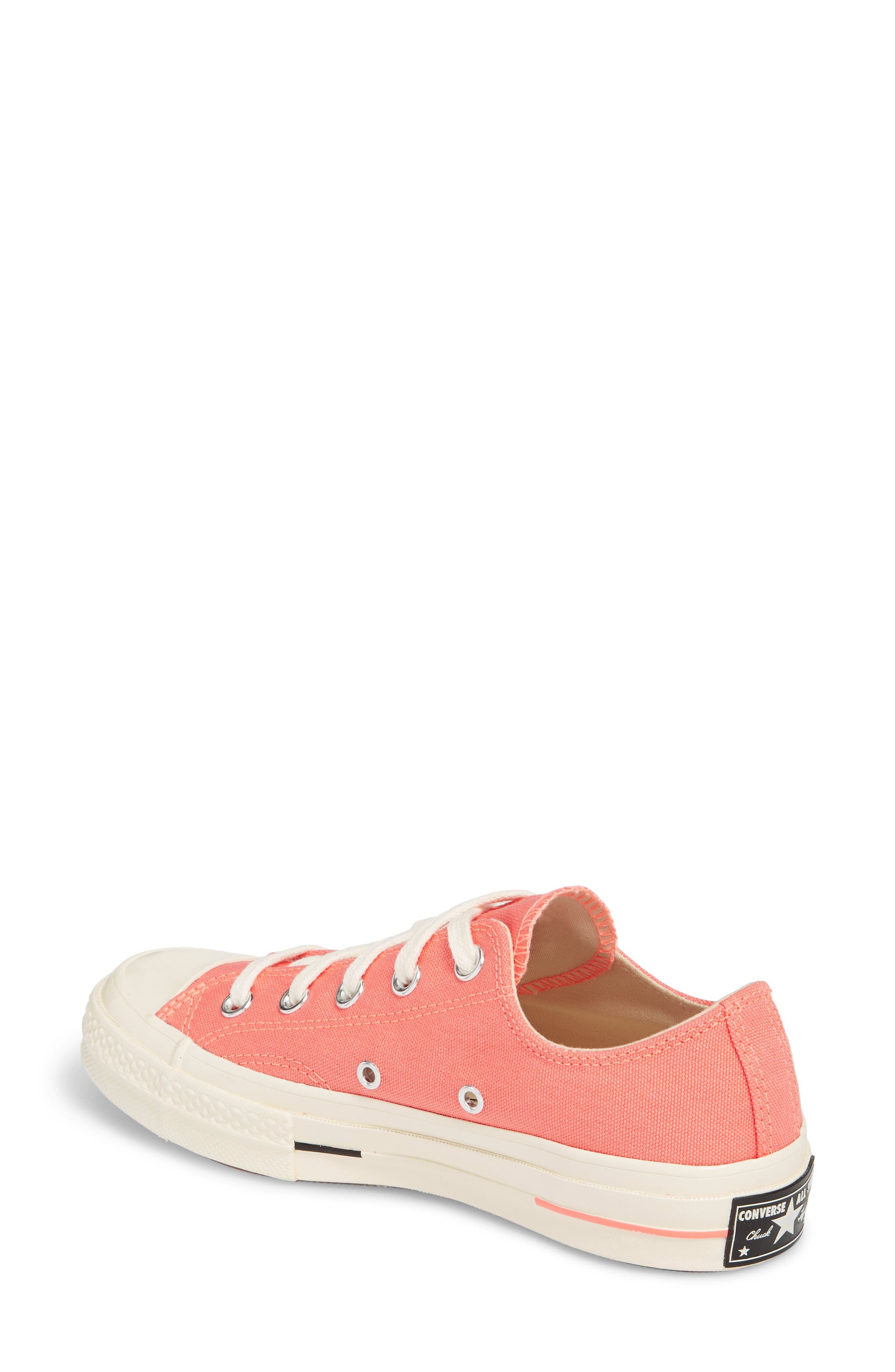 Chuck Taylor<sup>®</sup> All Star<sup>®</sup> '70s Brights Low Top Sneaker,                             Alternate thumbnail 2, color,                             CRIMSON PULSE