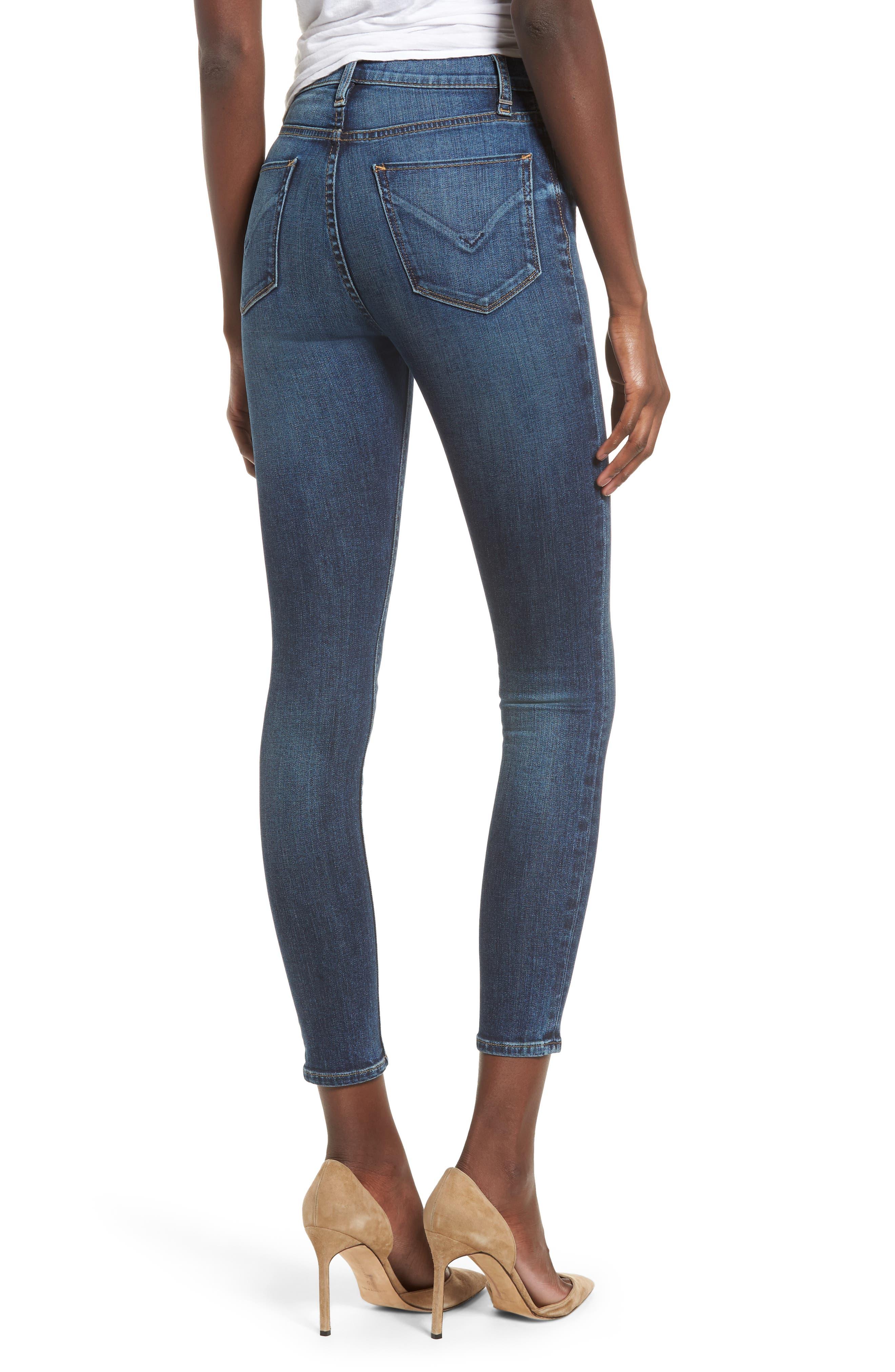 Barbara High Waist Ankle Skinny Jeans,                             Alternate thumbnail 2, color,                             CLEAN SIDE BAR