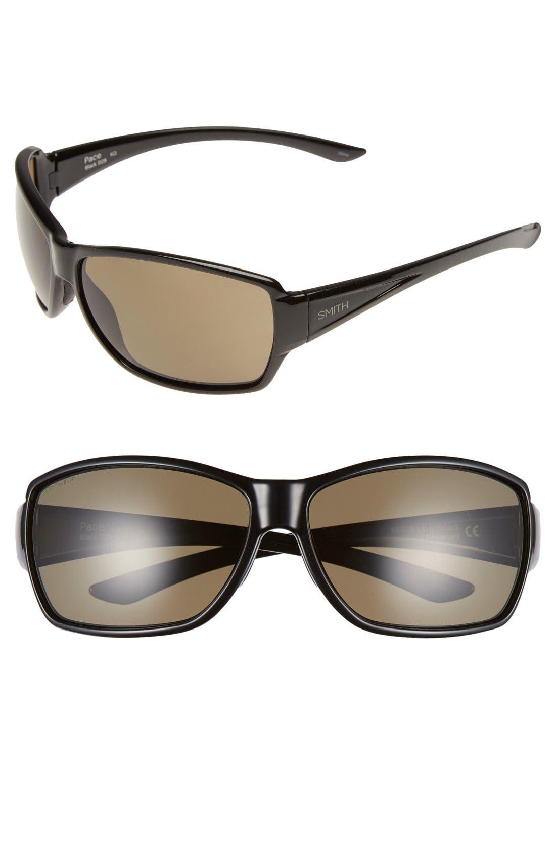 'Pace' 65mm ChromaPop<sup>™</sup> Polarized Sunglasses,                             Main thumbnail 1, color,                             001