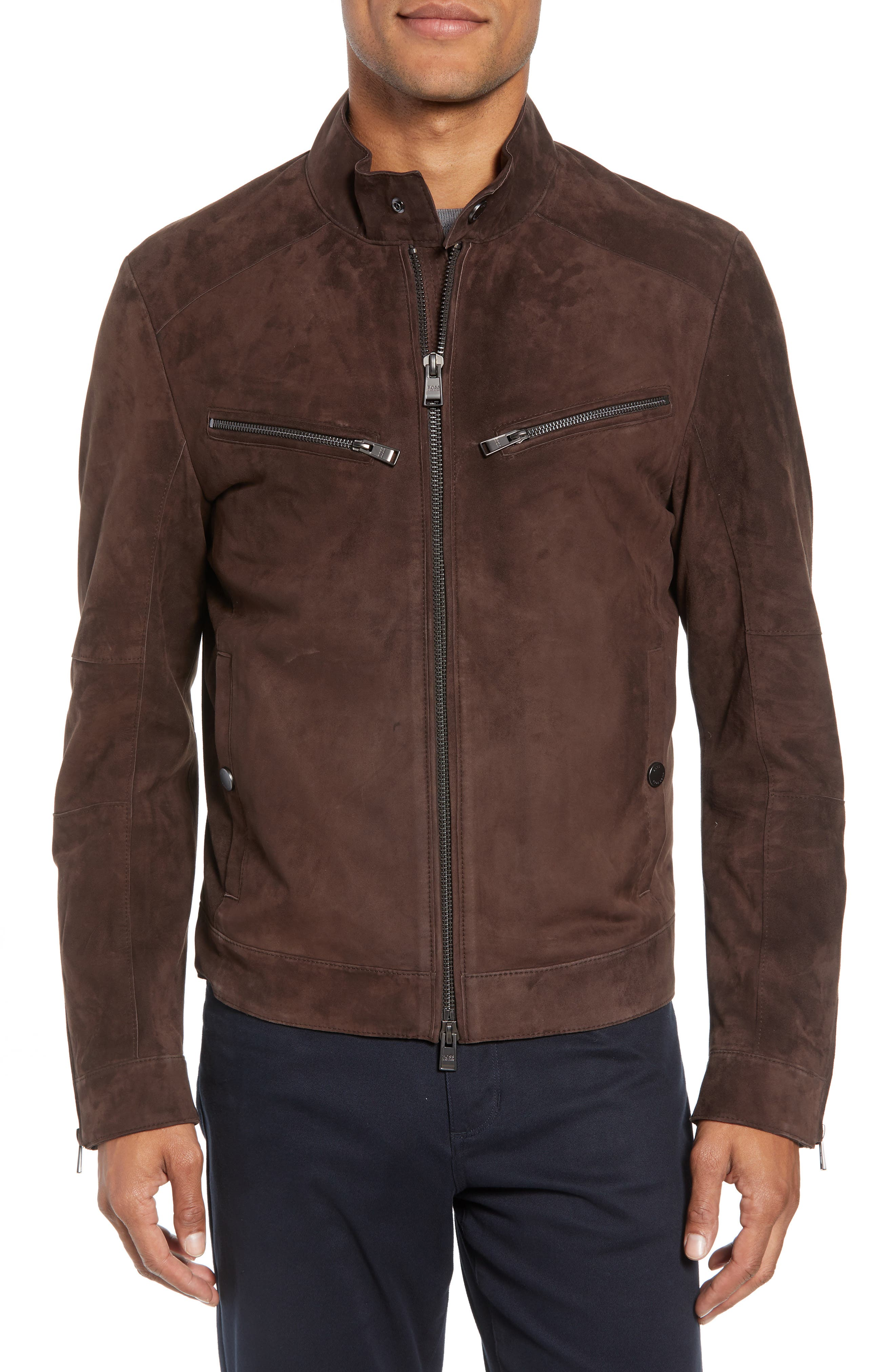 T-Nalok Suede Jacket,                             Alternate thumbnail 4, color,                             202