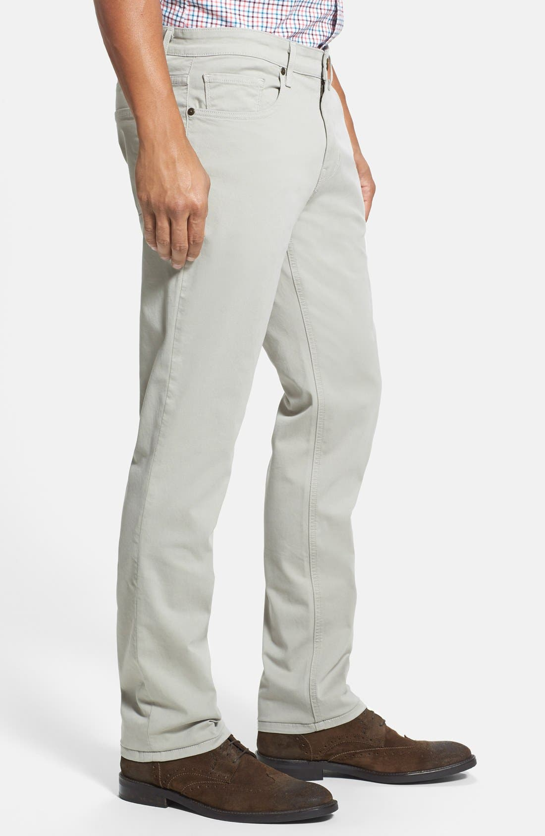 Normandie Slim Straight Leg Twill Pants,                             Alternate thumbnail 26, color,