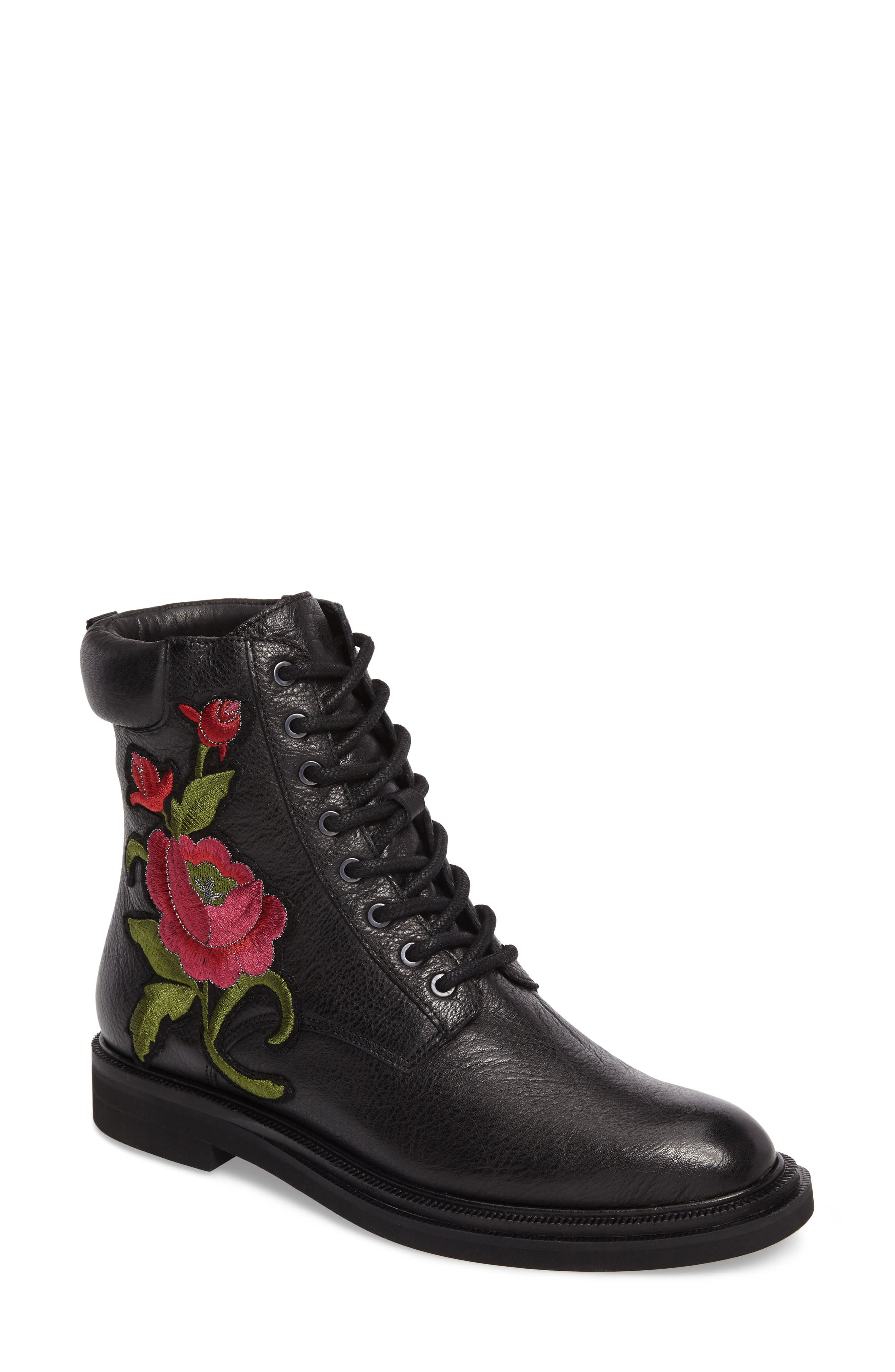 Ashton 2 Embroidered Boot,                             Main thumbnail 1, color,                             001