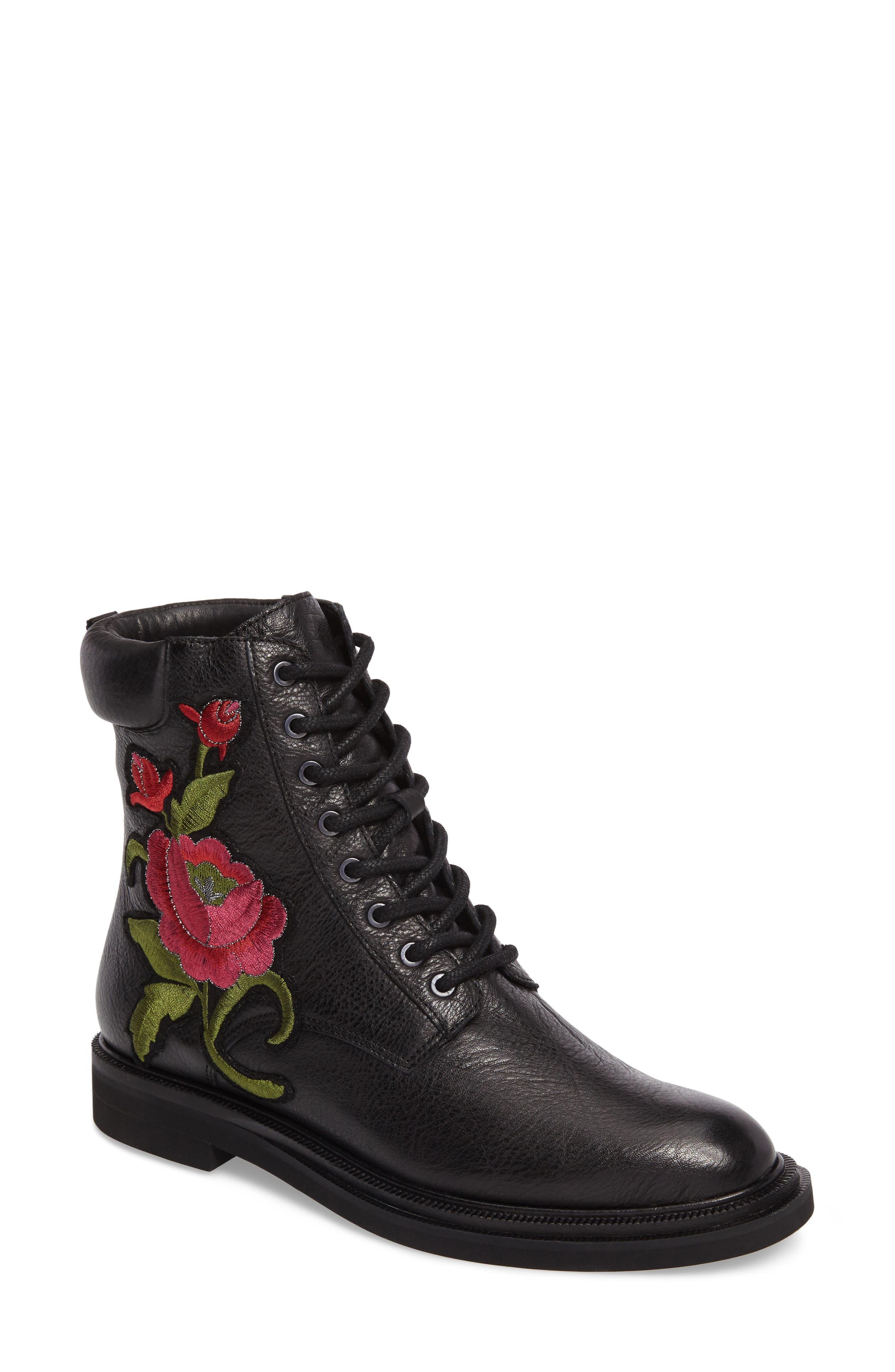 Ashton 2 Embroidered Boot,                         Main,                         color, 001