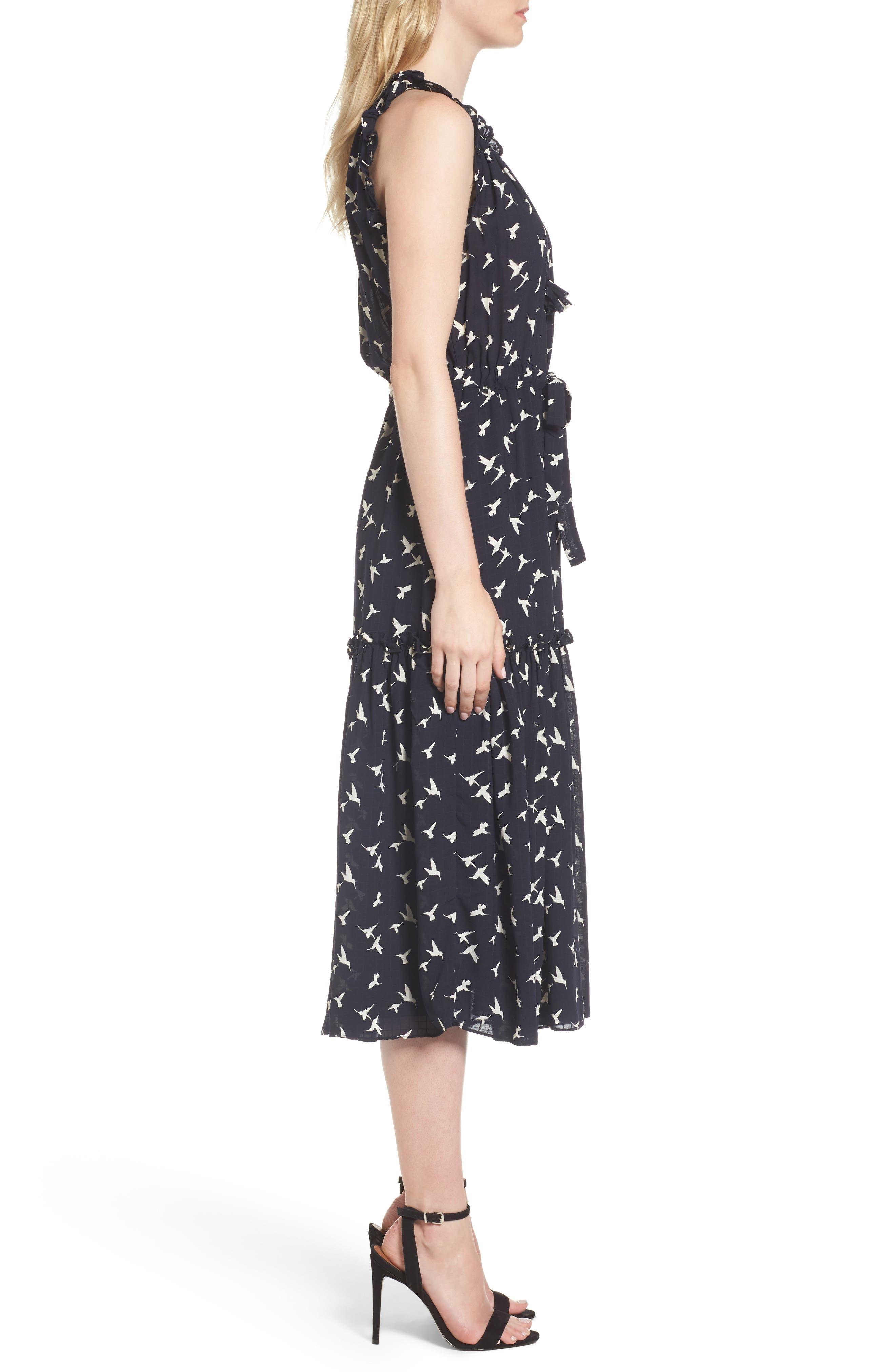 Martina Midi Dress,                             Alternate thumbnail 3, color,                             410