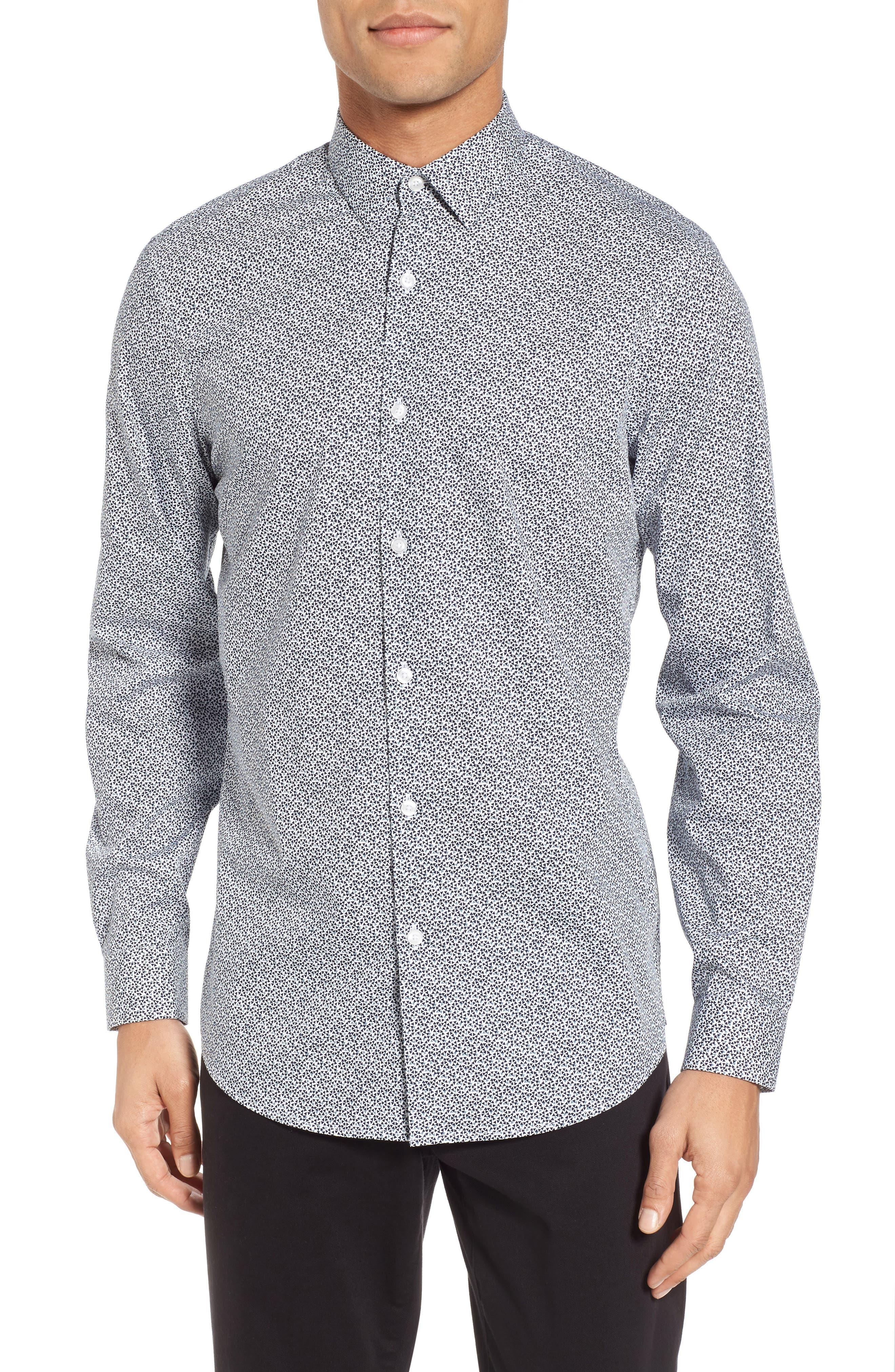 Trim Fit Geometric Sport Shirt,                             Main thumbnail 1, color,                             410