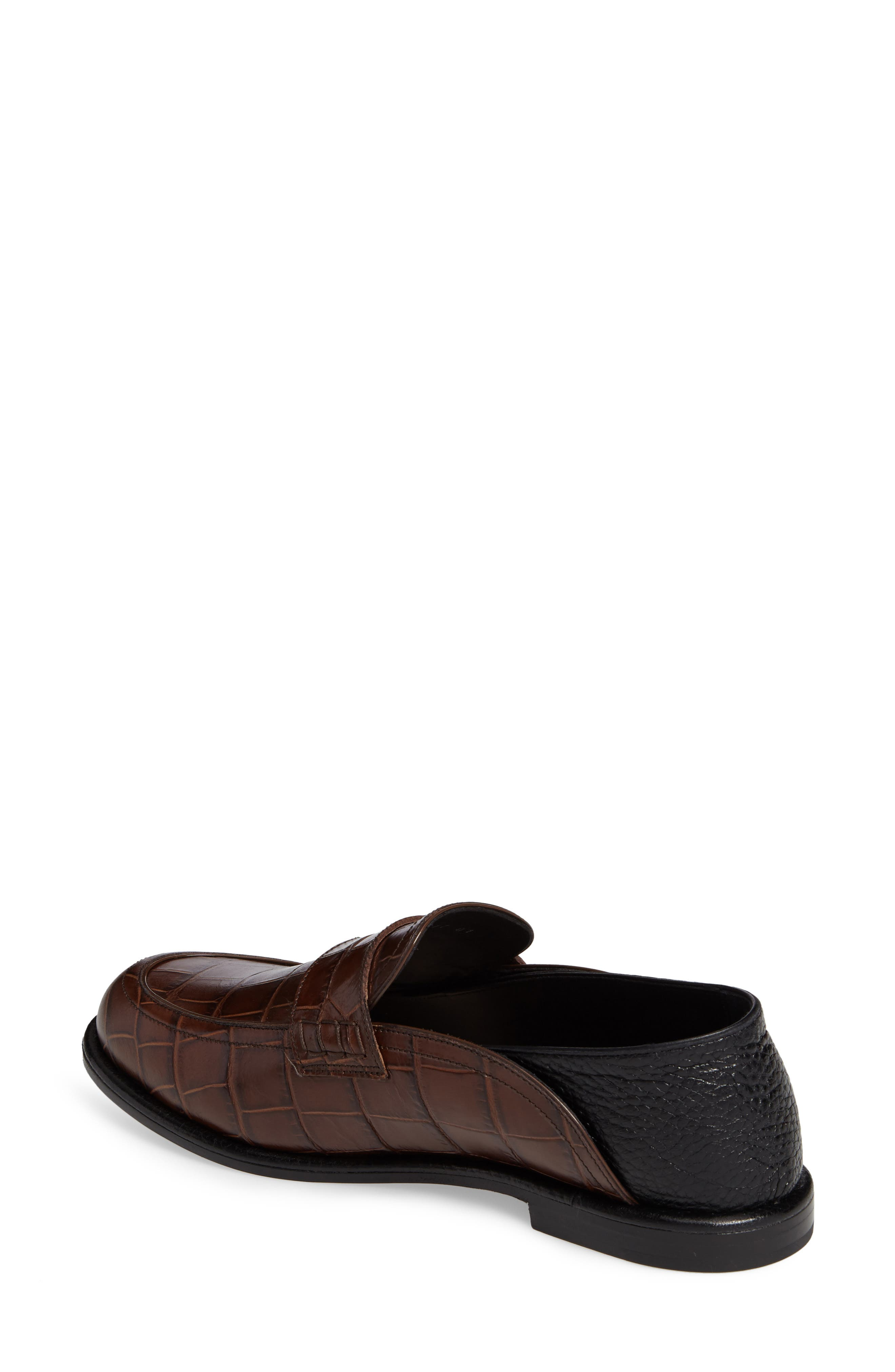 Croc Embossed Convertible Loafer,                             Alternate thumbnail 4, color,