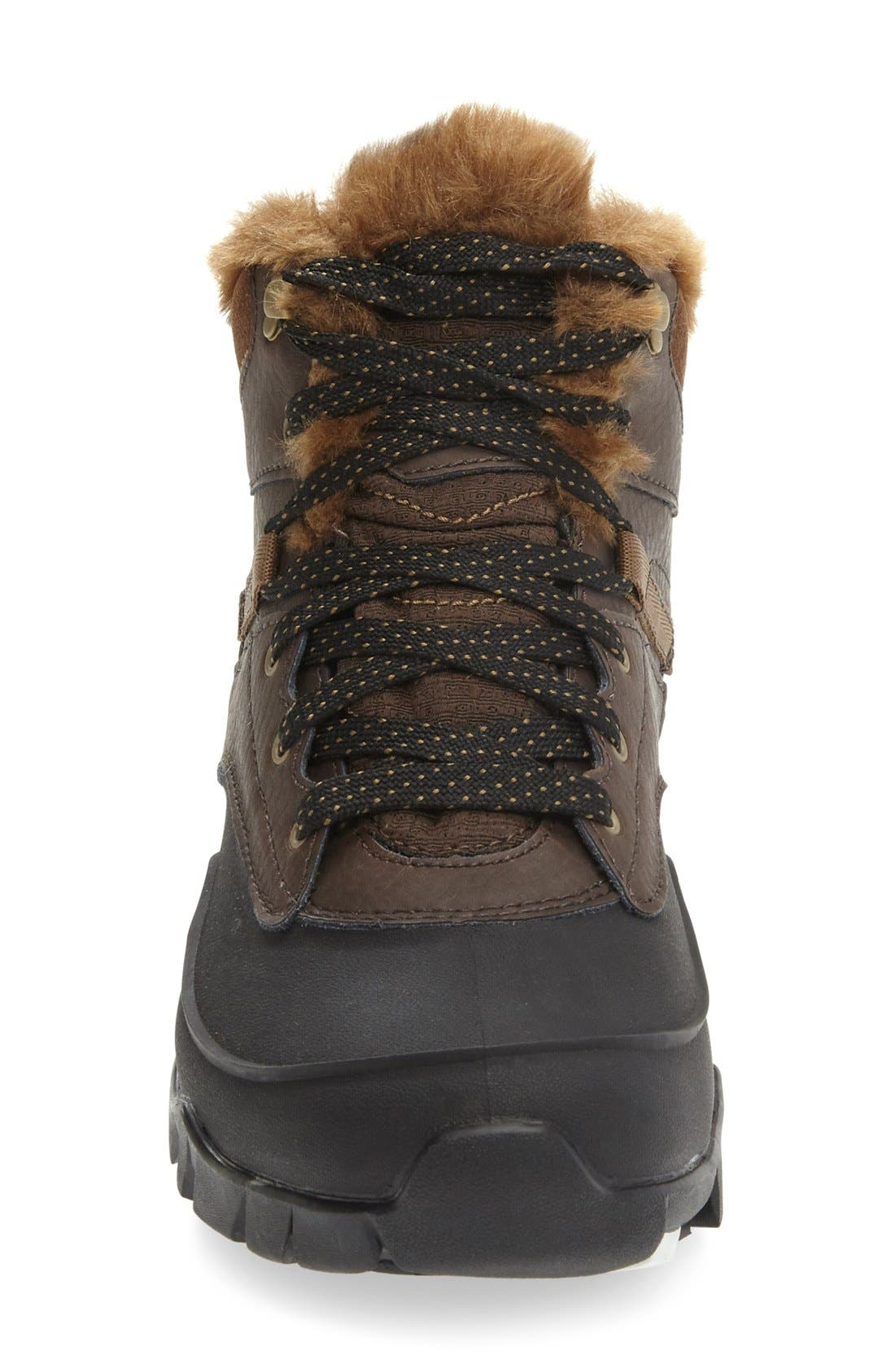 Aurora 6 Waterproof Faux Fur Lined Boot,                             Alternate thumbnail 9, color,
