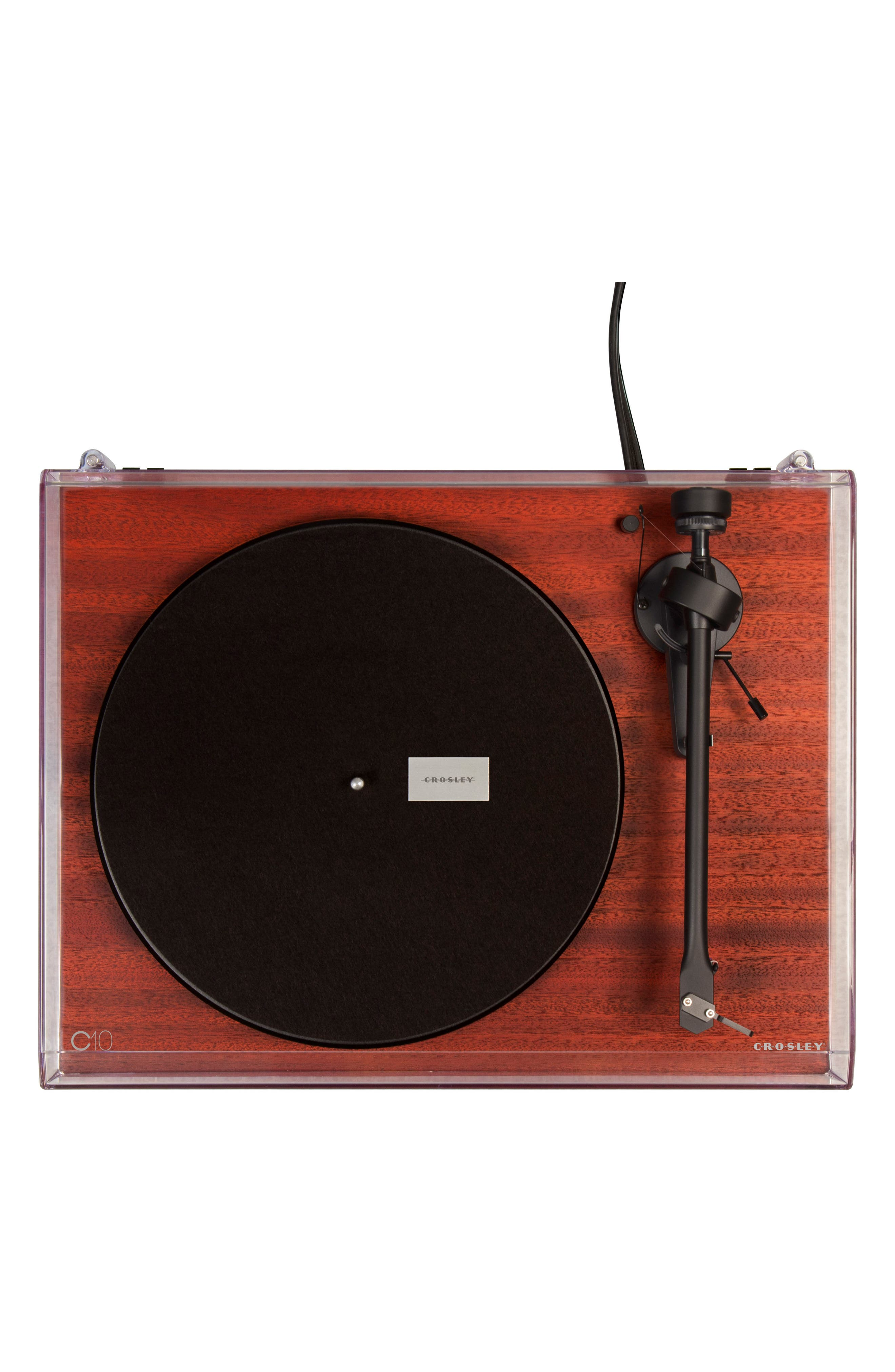 C10 Two-Speed Manual Turntable,                             Alternate thumbnail 3, color,                             MAHOGANY