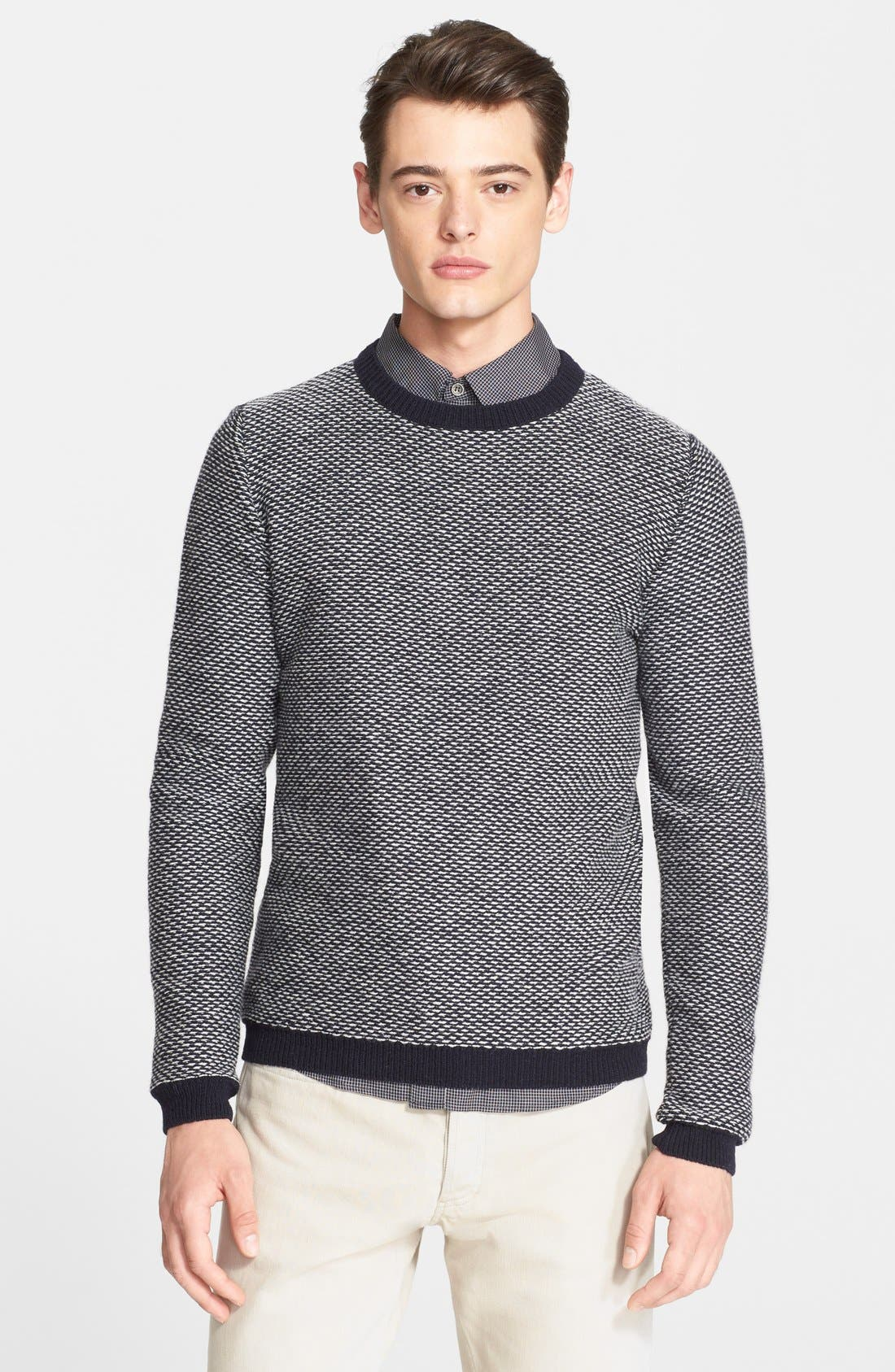 A.P.C.,                             Merino Wool Sweater,                             Main thumbnail 1, color,                             410