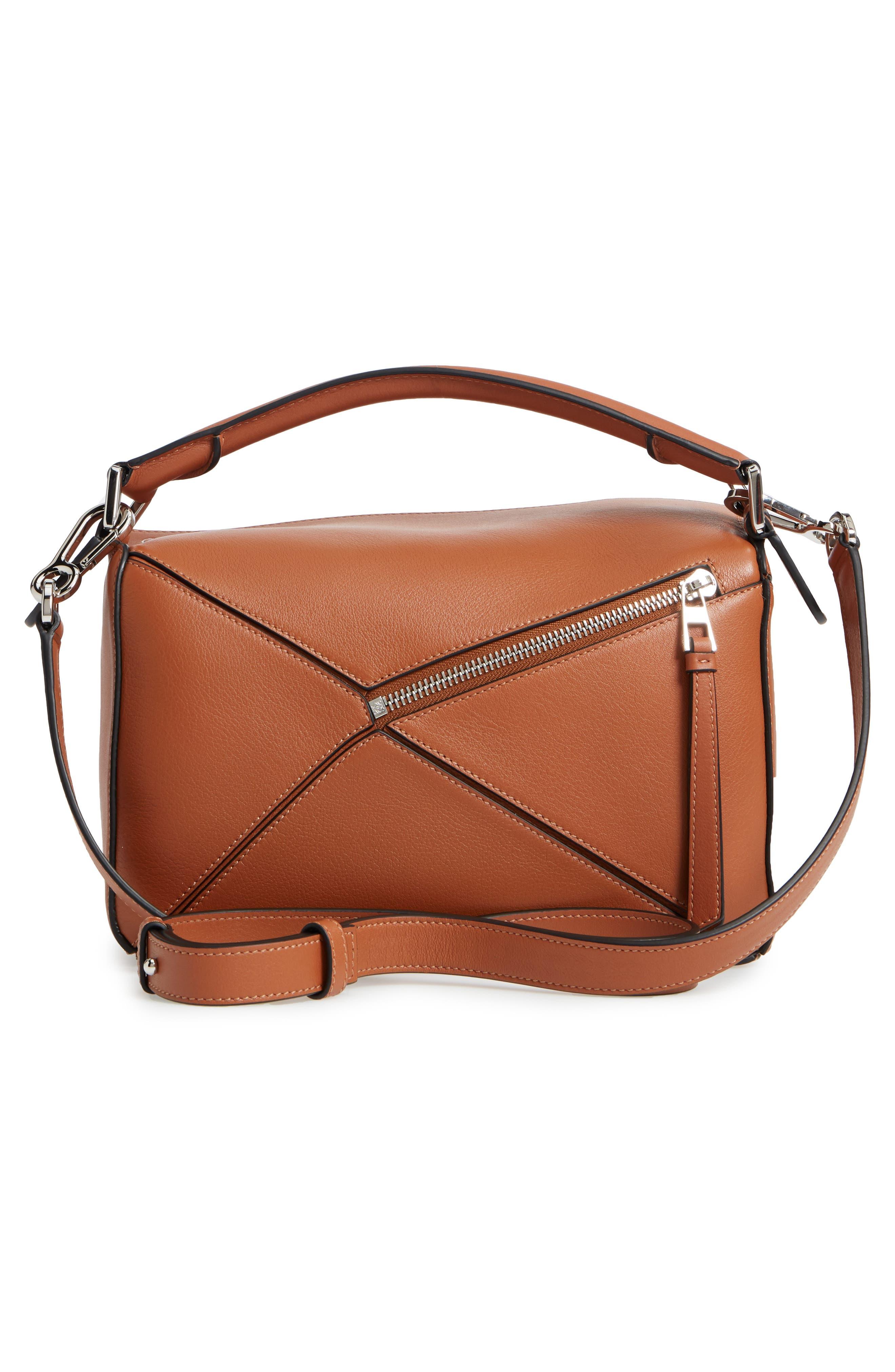 Small Puzzle Shoulder Bag,                             Alternate thumbnail 4, color,                             TAN