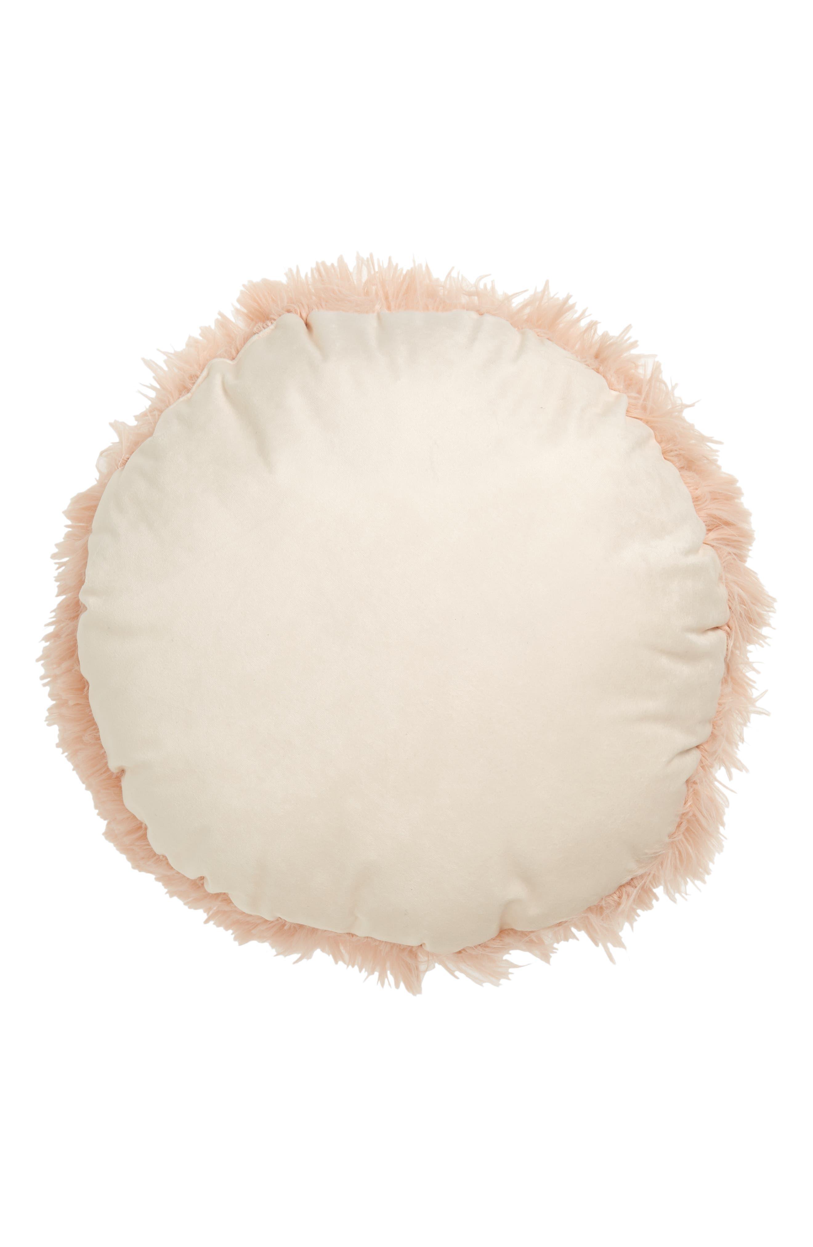 Feather Faux Fur Pillow,                             Alternate thumbnail 12, color,