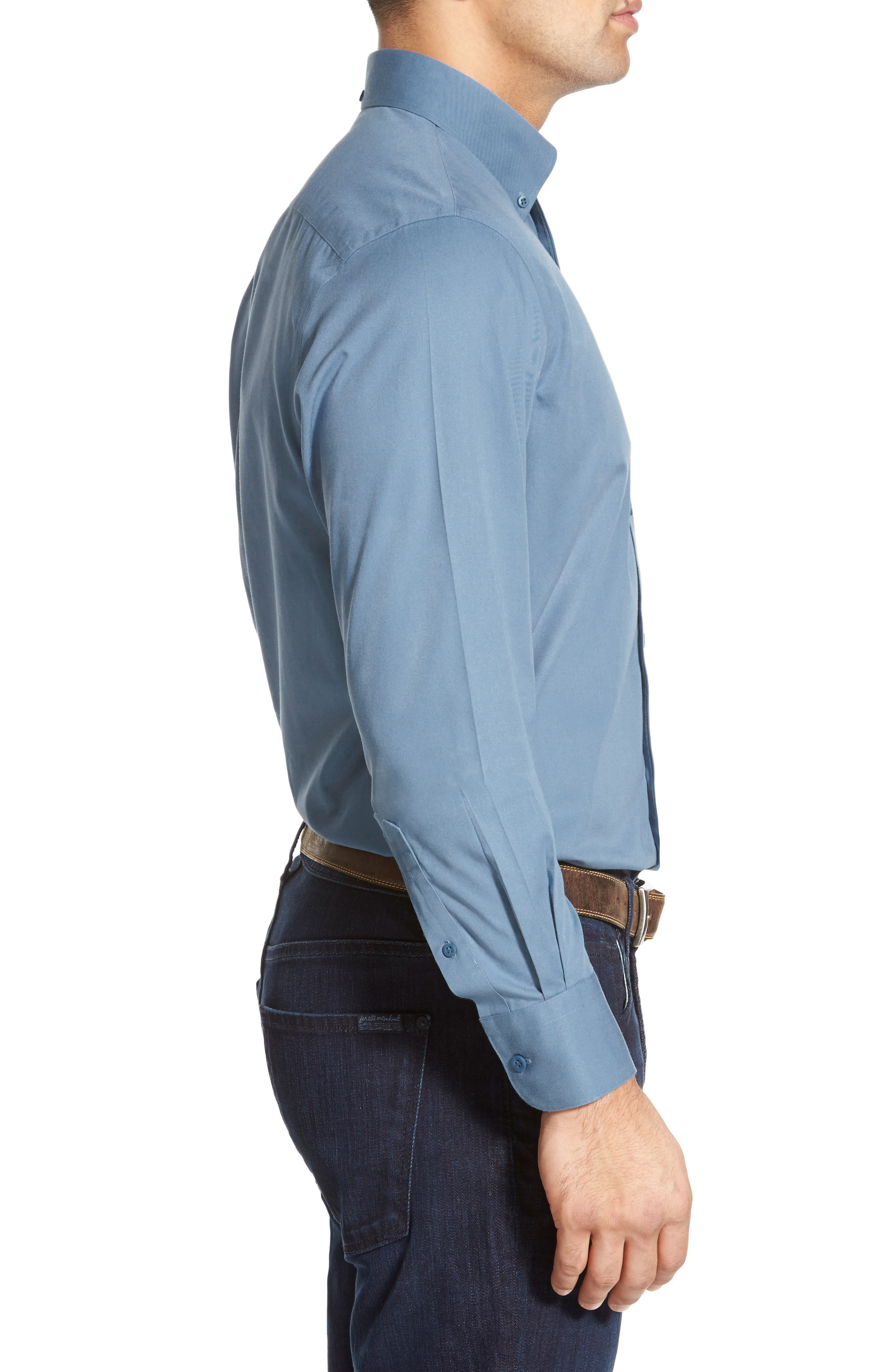 Smartcare<sup>™</sup> Traditional Fit Twill Boat Shirt,                             Alternate thumbnail 125, color,