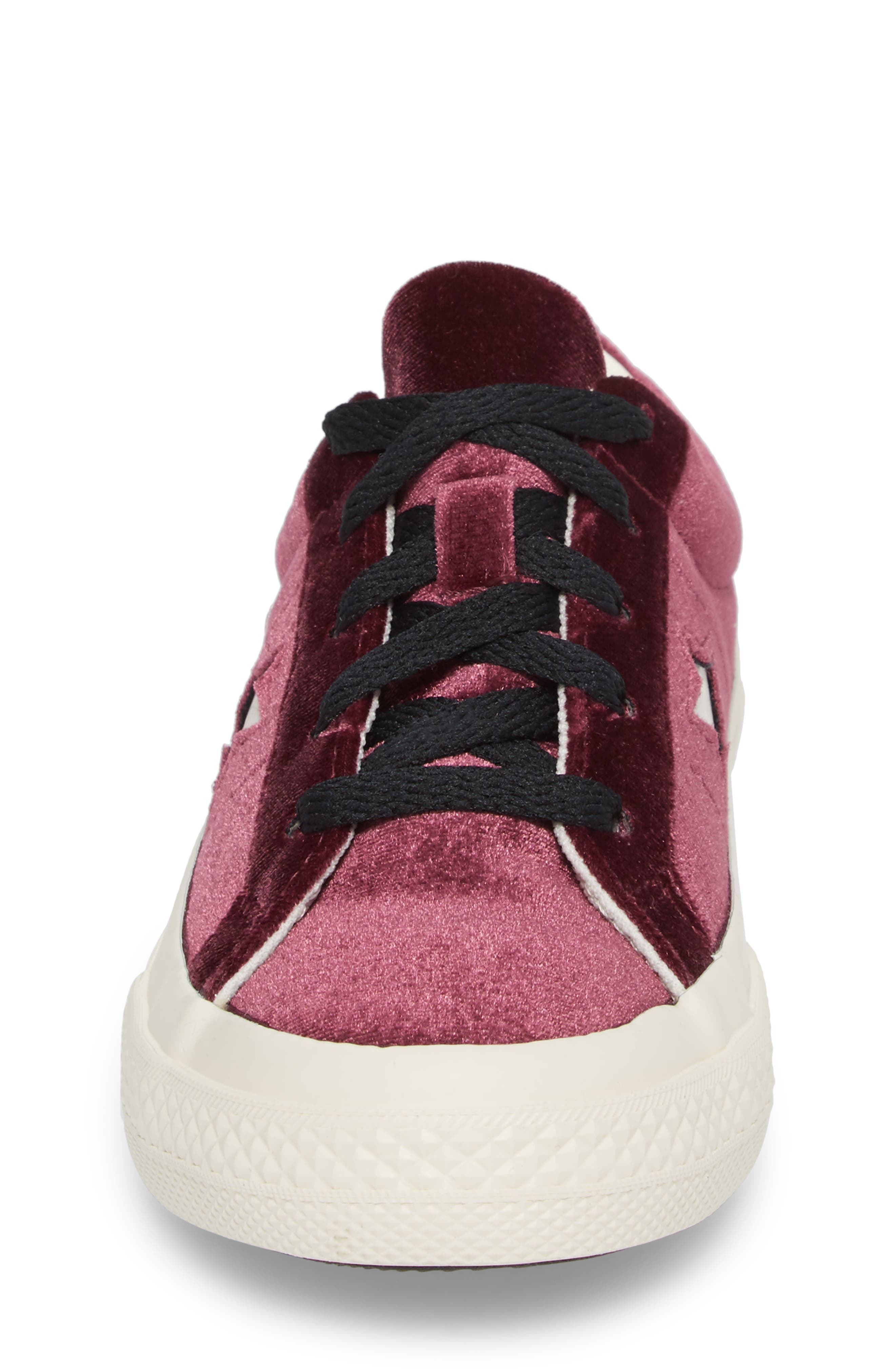 Chuck Taylor<sup>®</sup> All Star<sup>®</sup> One Star Velvet Platform Sneaker,                             Alternate thumbnail 12, color,
