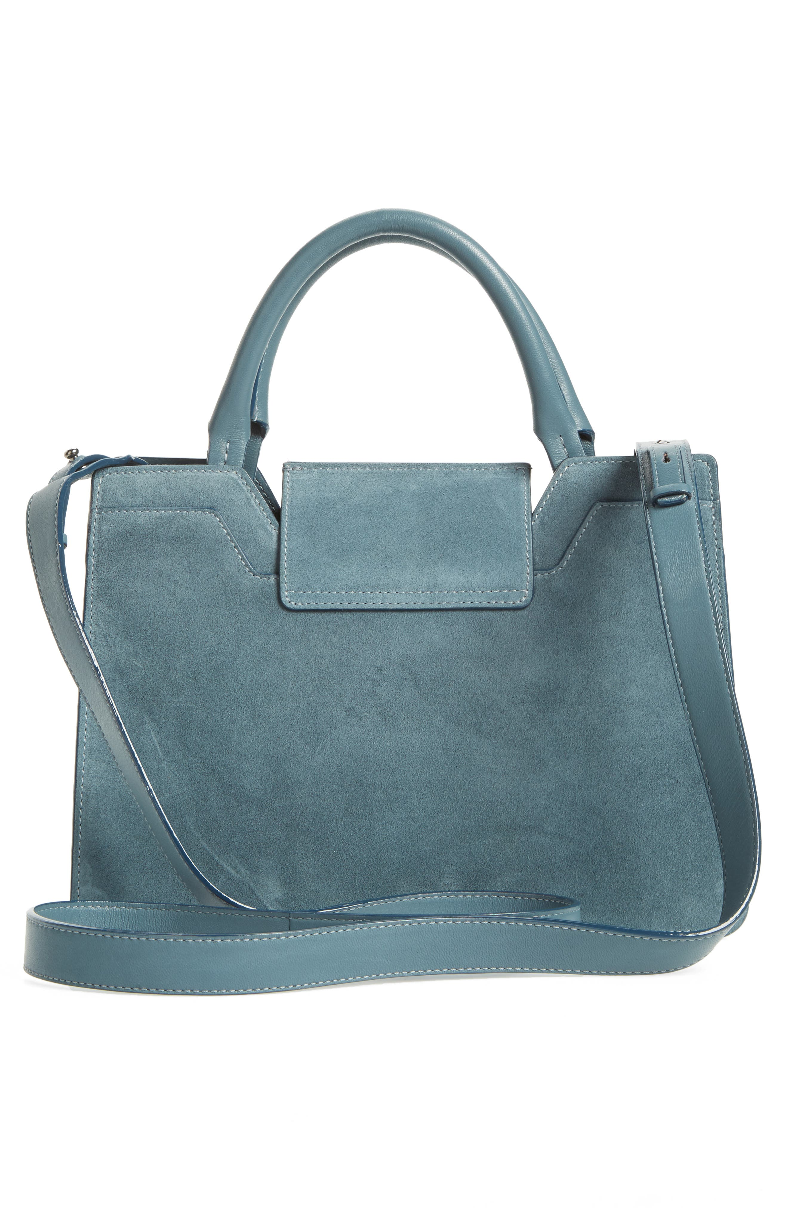 Small Rebel Suede Tote,                             Alternate thumbnail 3, color,                             420