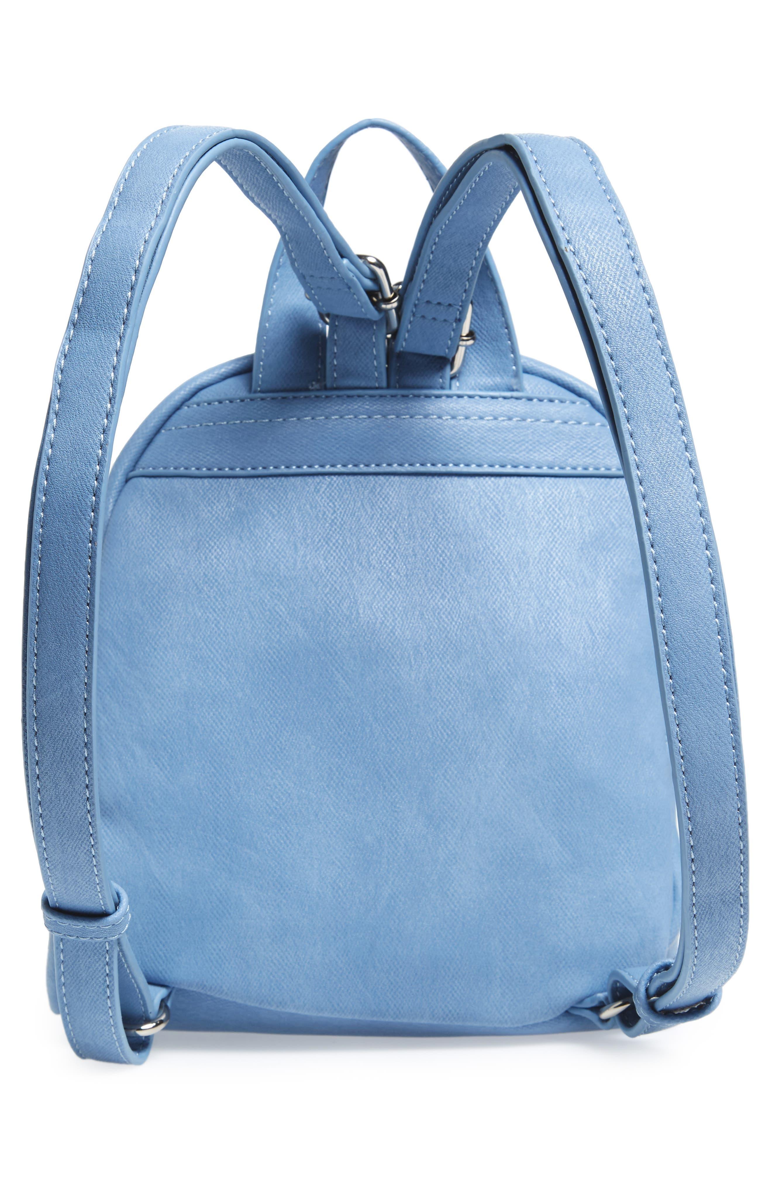 Faux Leather Mini Backpack,                             Alternate thumbnail 19, color,