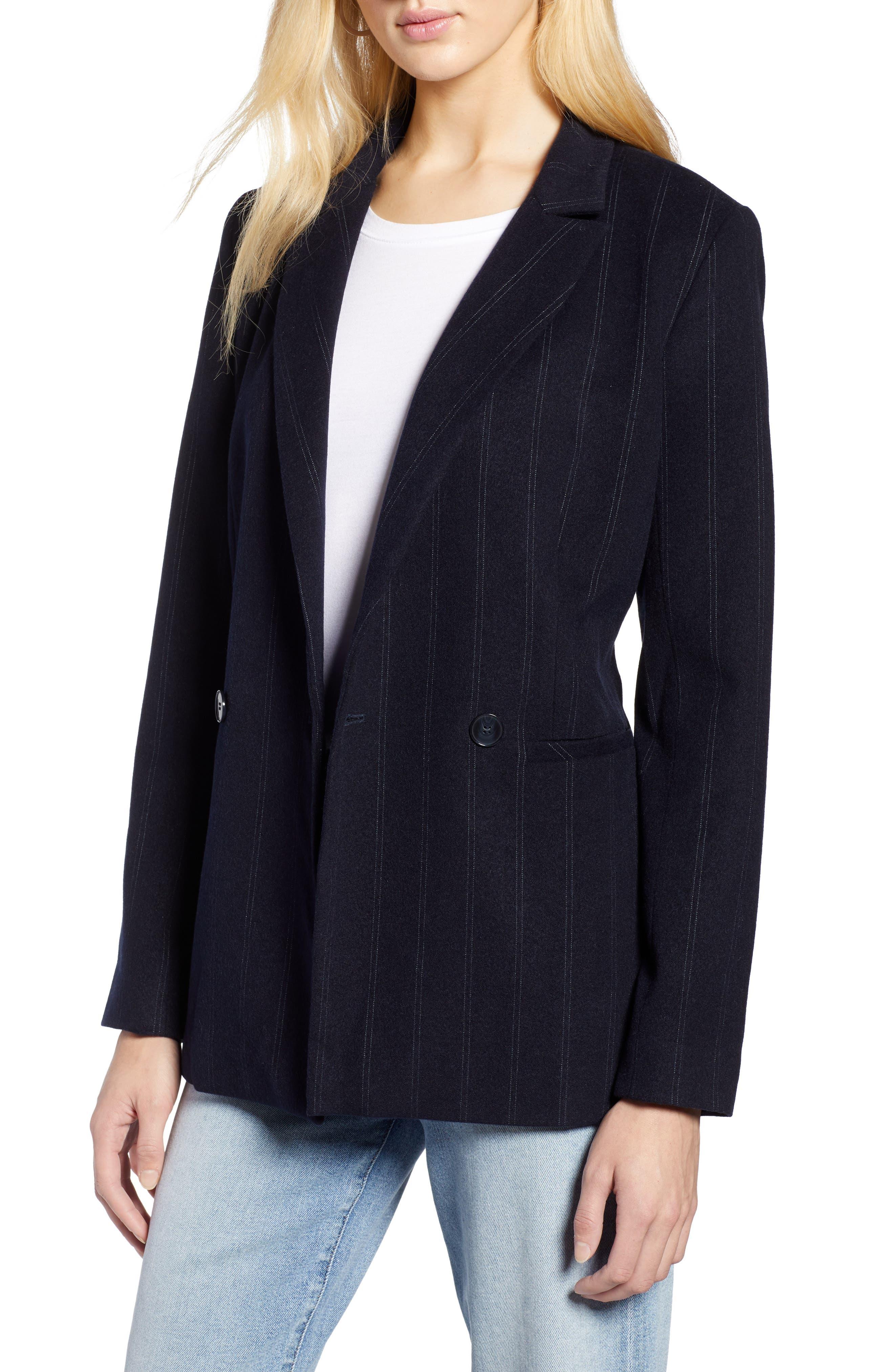 Stripe Suit Jacket,                             Main thumbnail 1, color,                             410